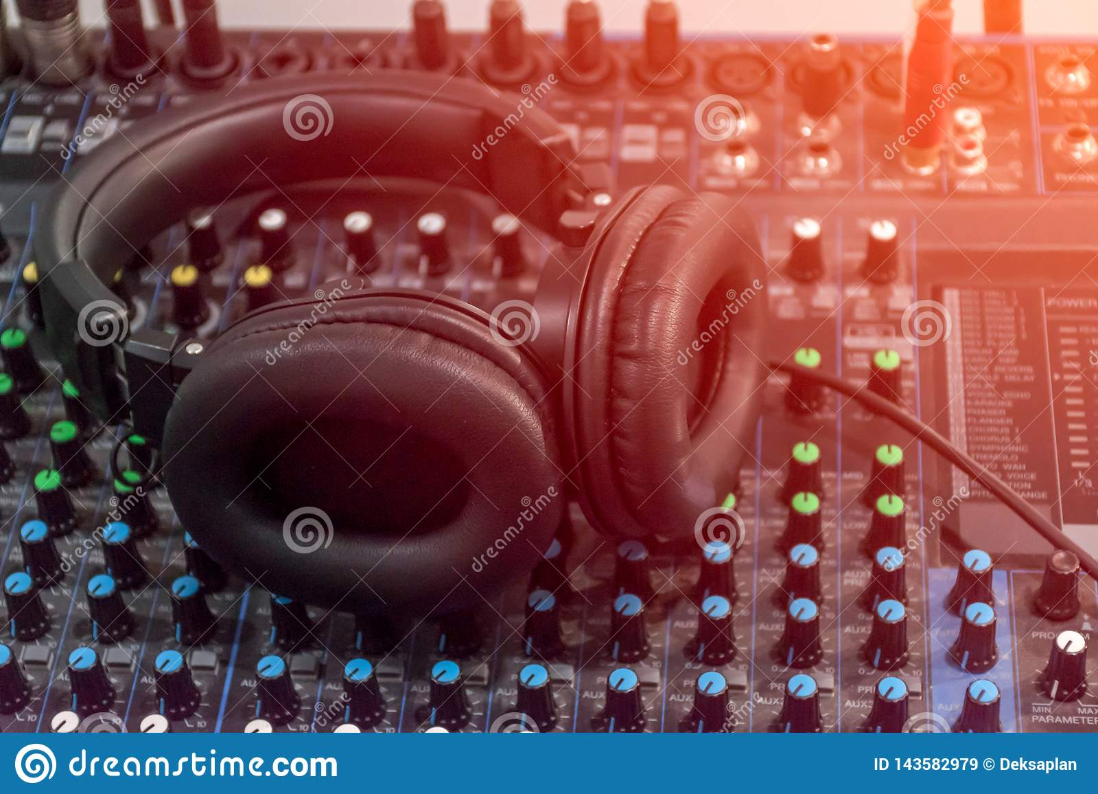 Som audio do misturador