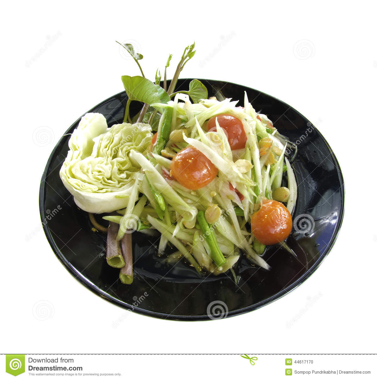 Som Tum Thai Green Papaya Salad  Cooking The Globe
