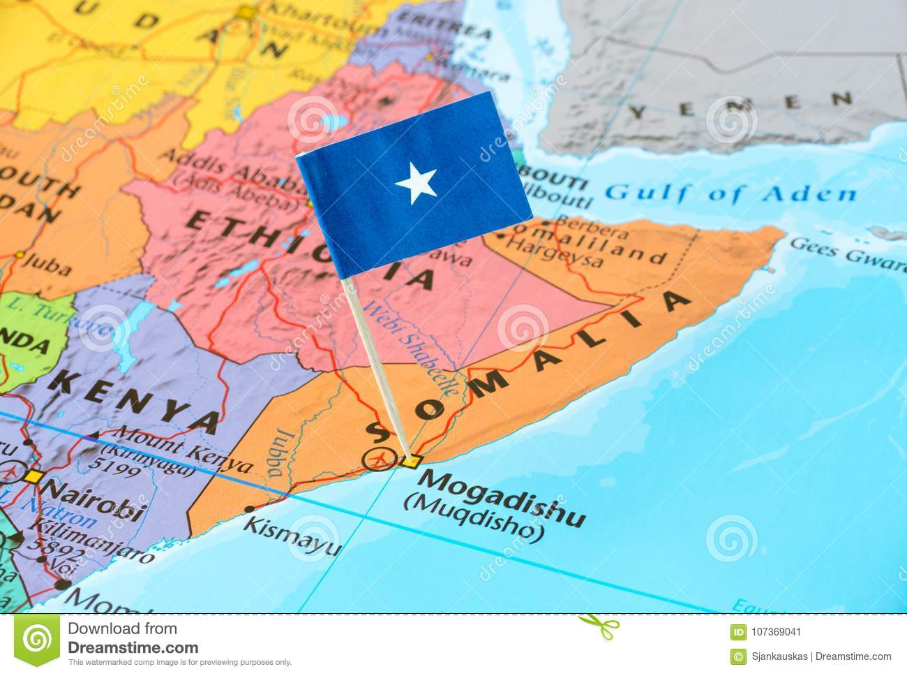 Somalia map and flag pin stock image. Image of location - 107369041