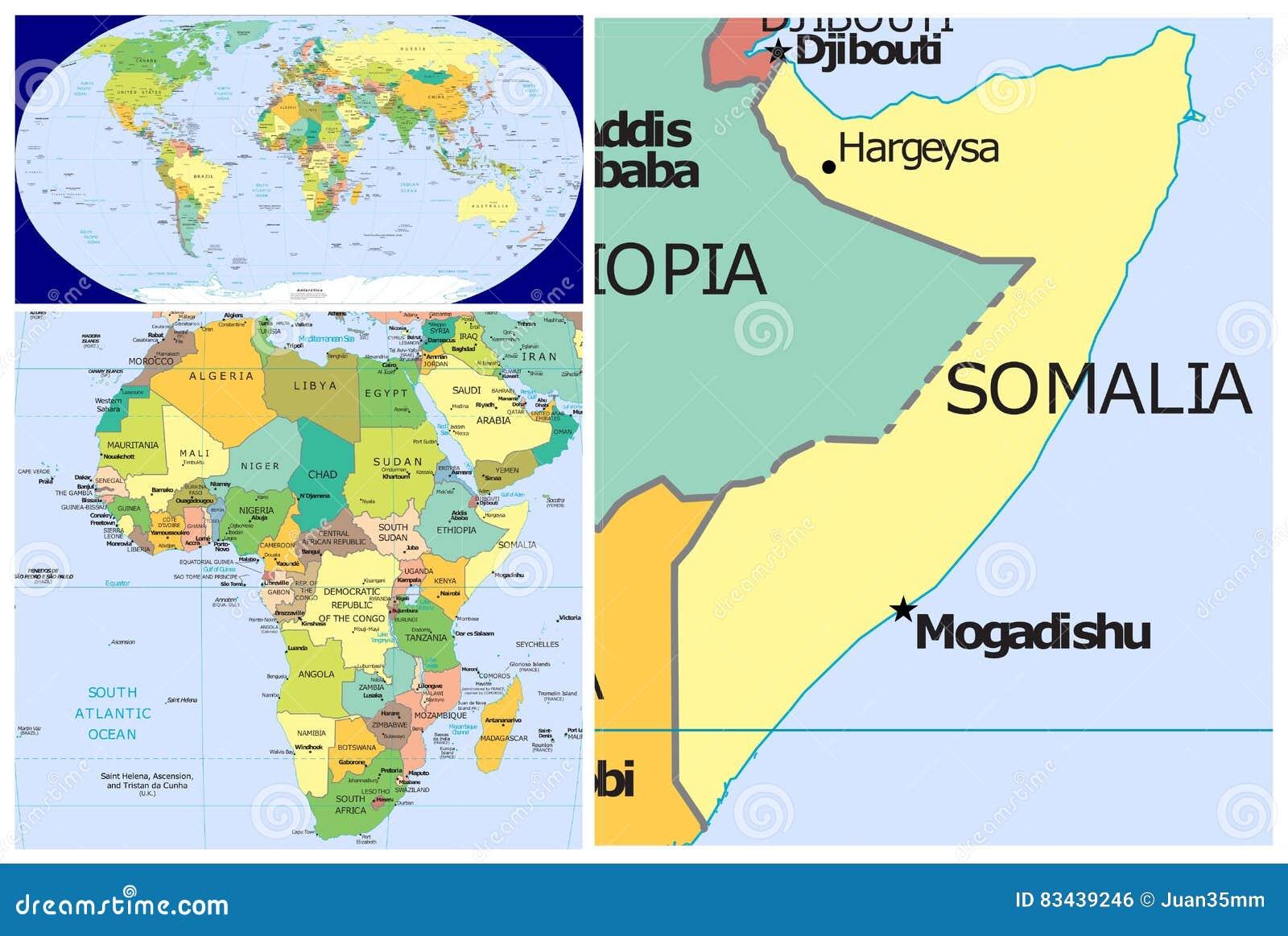 World Map Somolia.Somalia World Stock Illustration Illustration Of Close 83439246