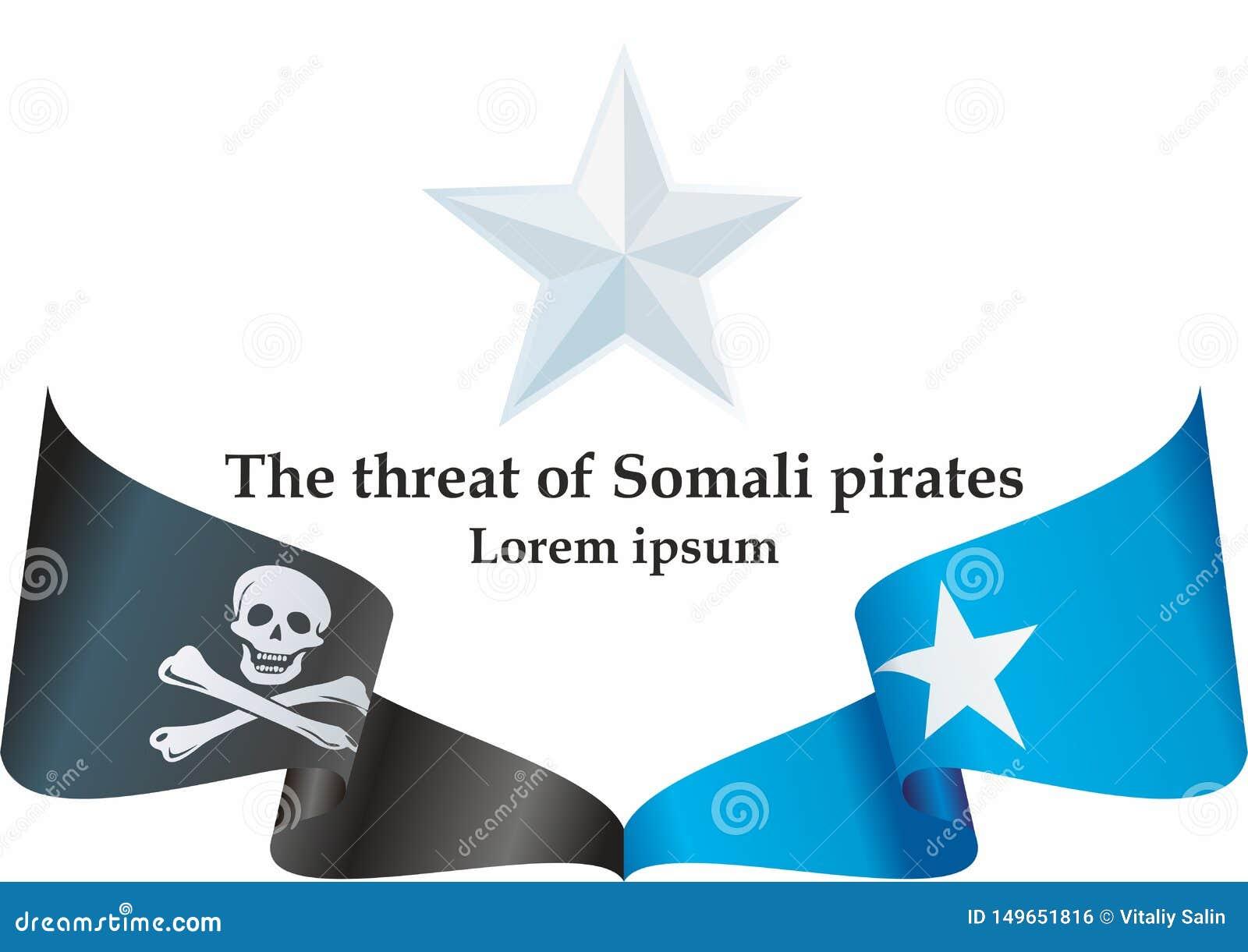 Somaliskt piratkopierar flaggauppsättningen, nyheterna om en annan händelse med somaliskt piratkopierar Mall för nyheterna- och i