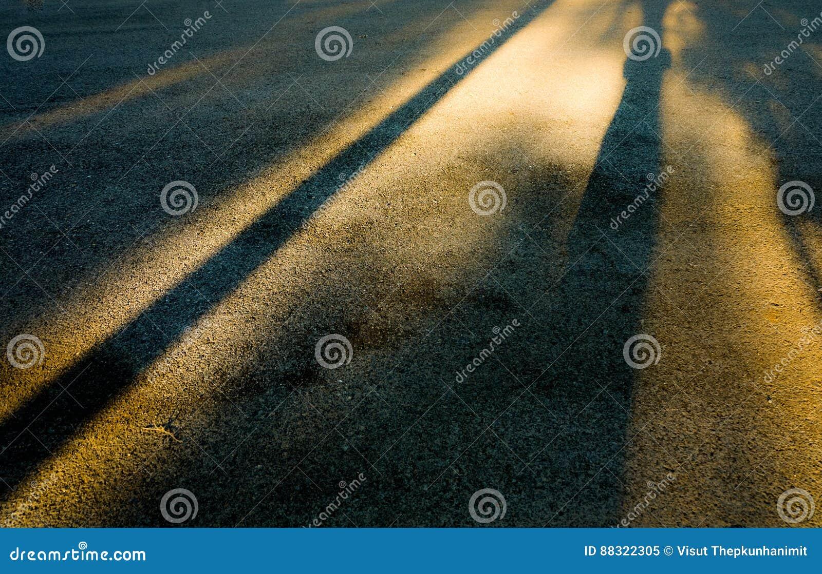 Sombra de la puesta del sol
