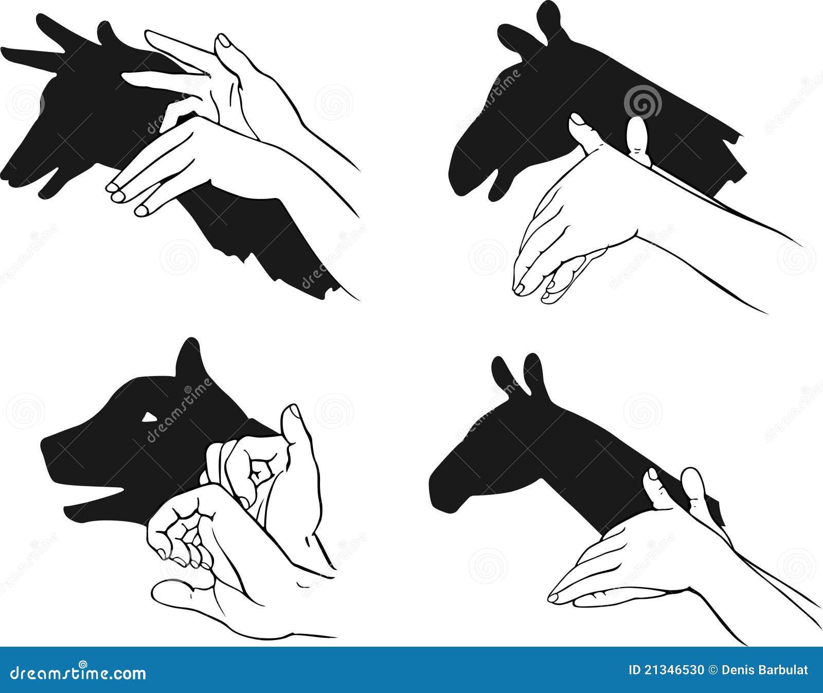 Как сделать тени руками рук