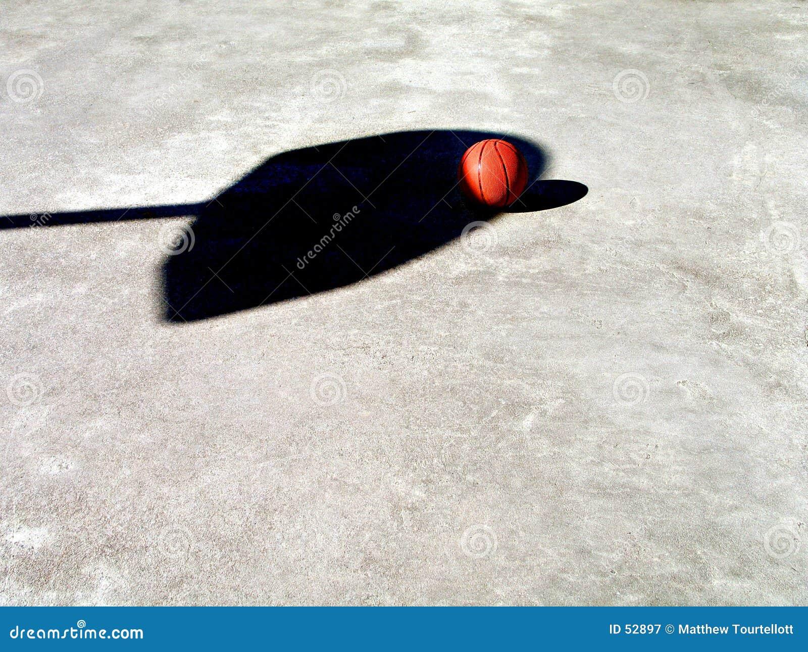 Sombra del baloncesto y de la red