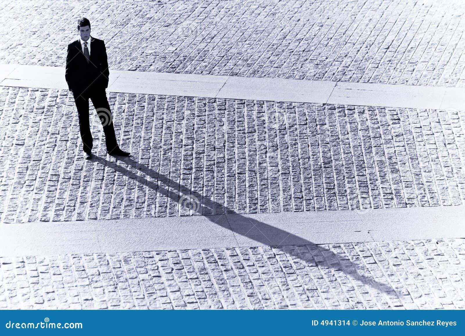 Sombra del hombre de negocios