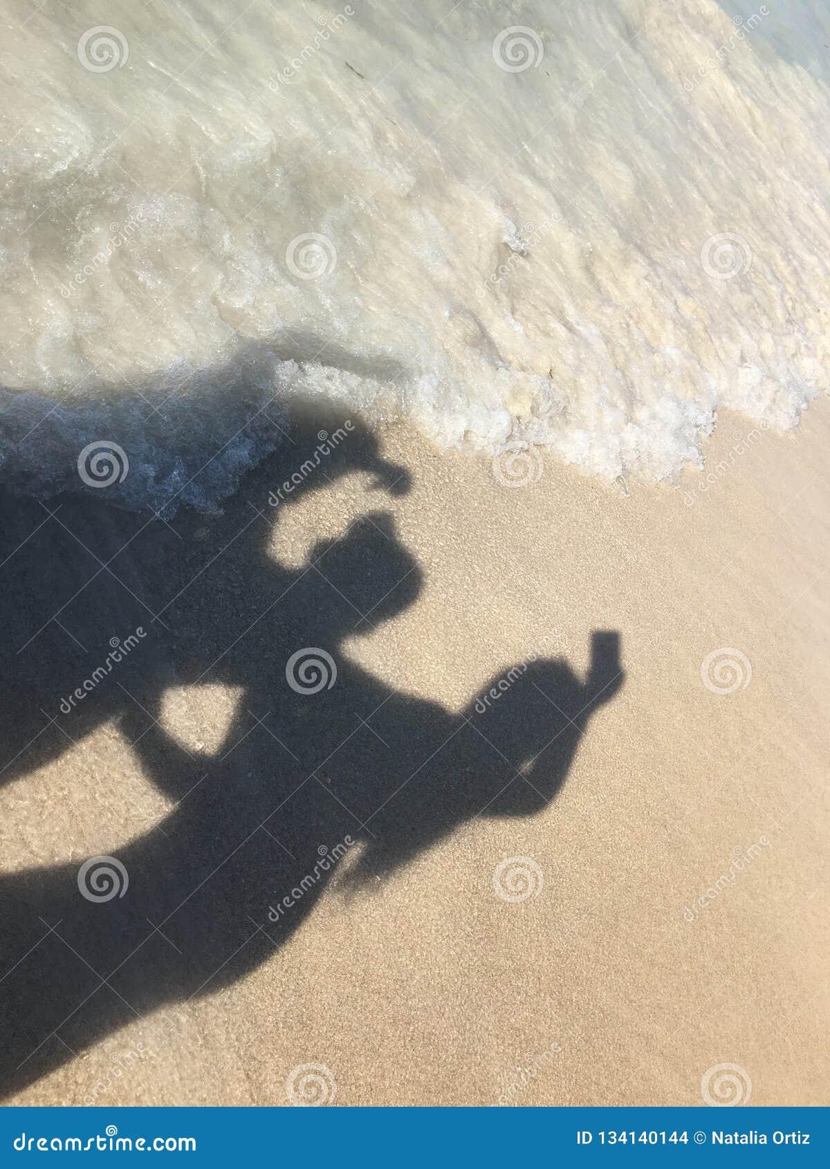 Sombra na praia
