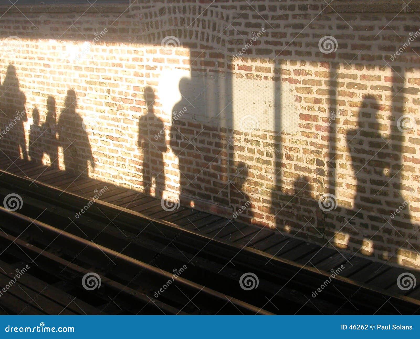 Sombras da plataforma