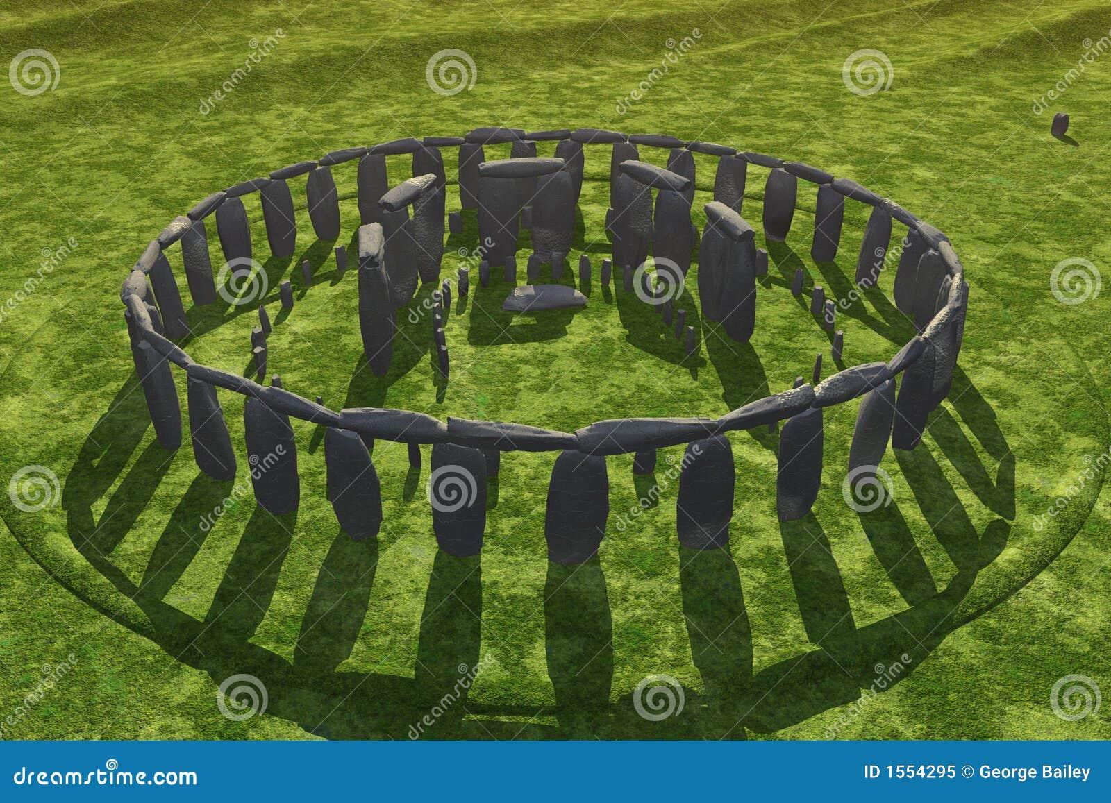 Sombras del bastidor de Stonehenge