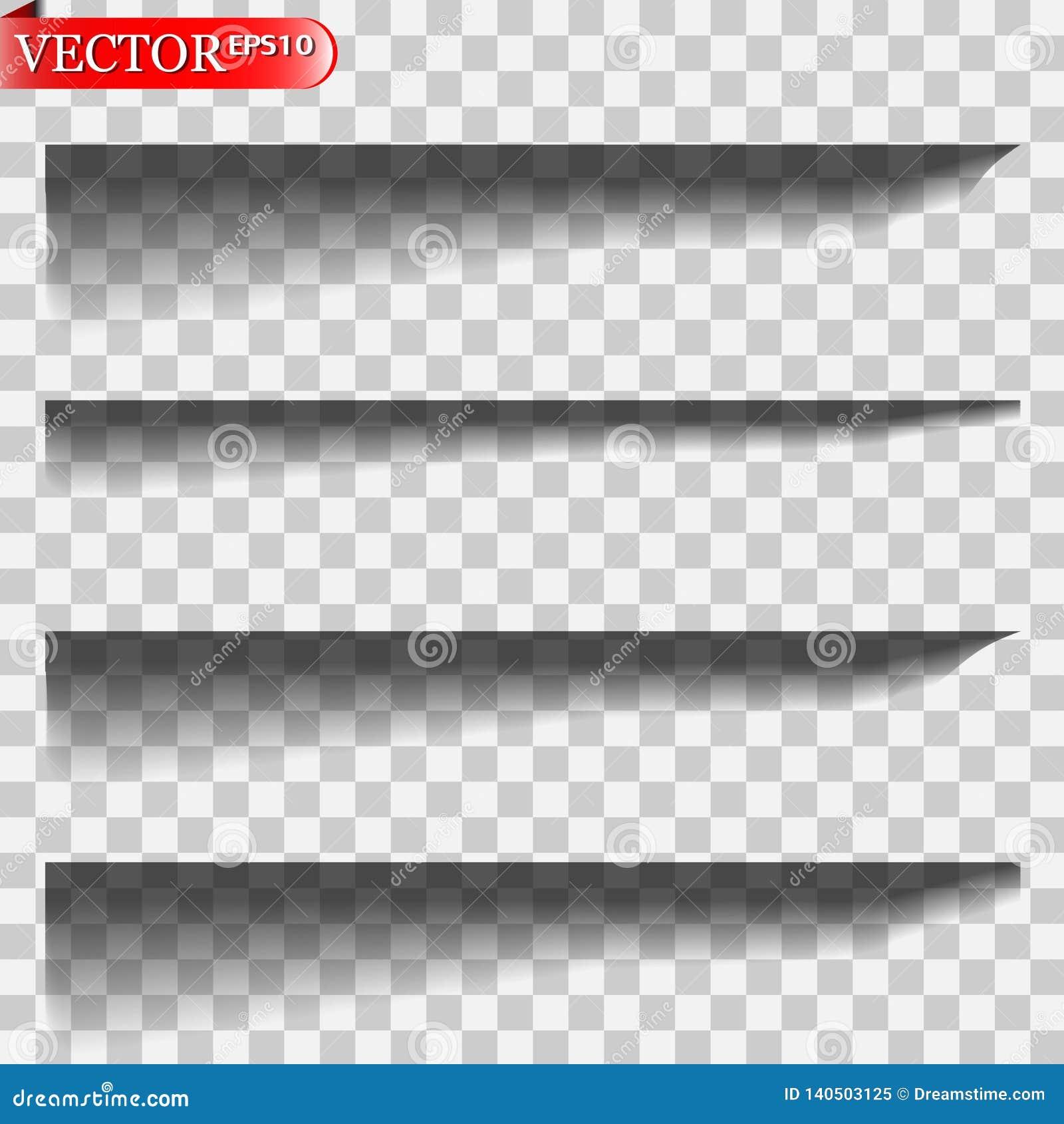 Sombras del vector aisladas