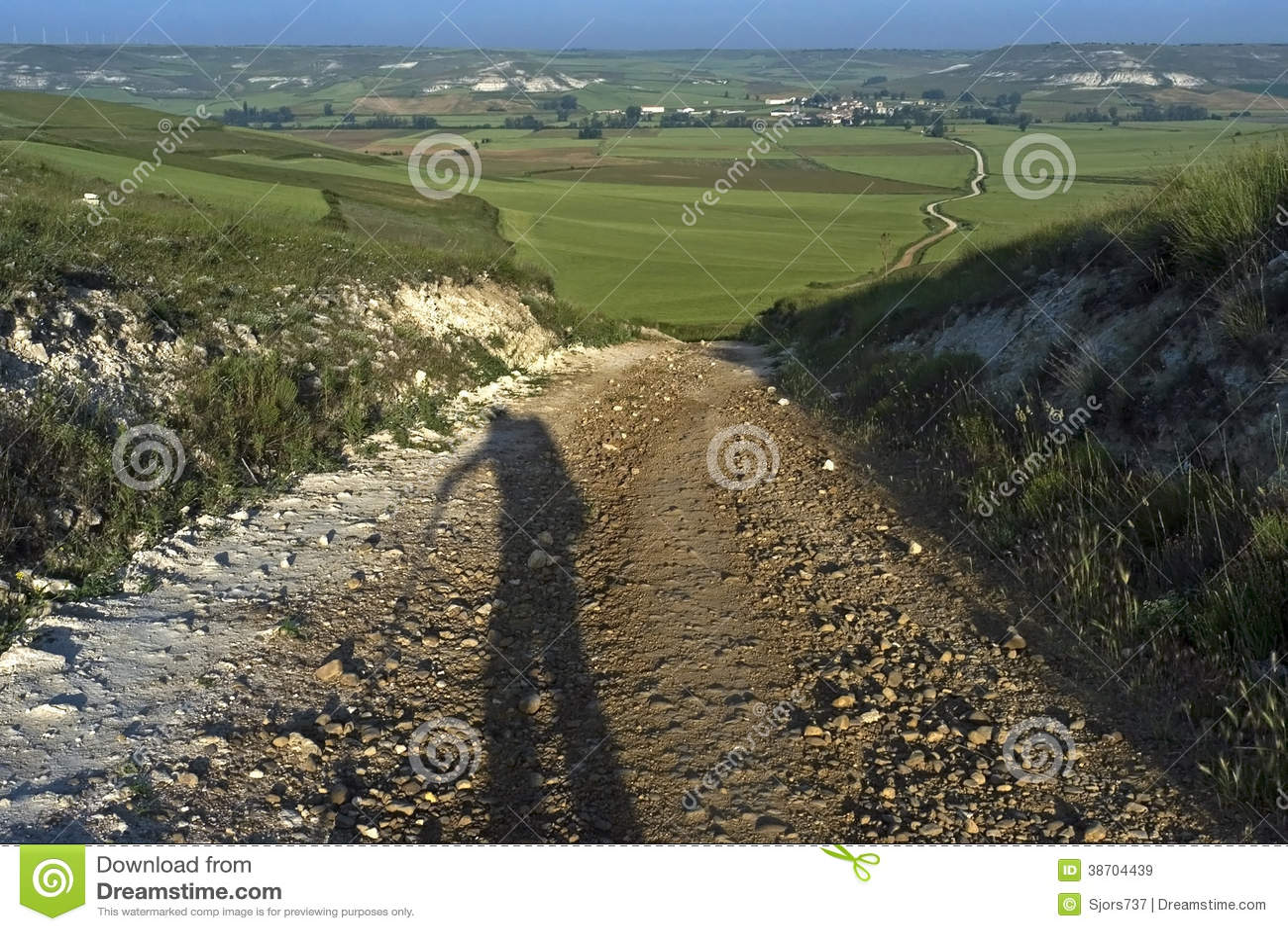 Sombree al peregrino, paisaje rural, Camino Frances