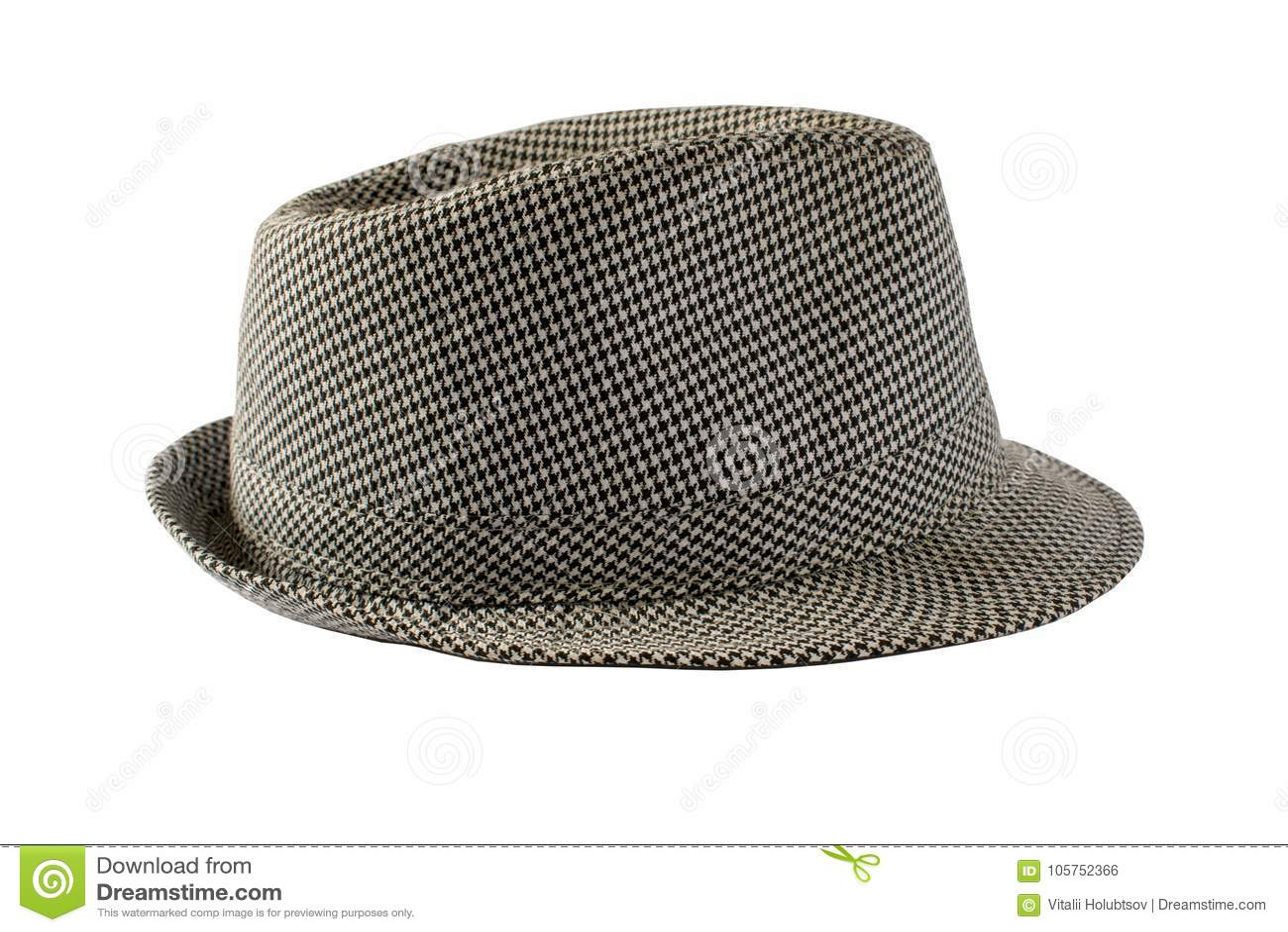 Sombrero aislado en un fondo blanco