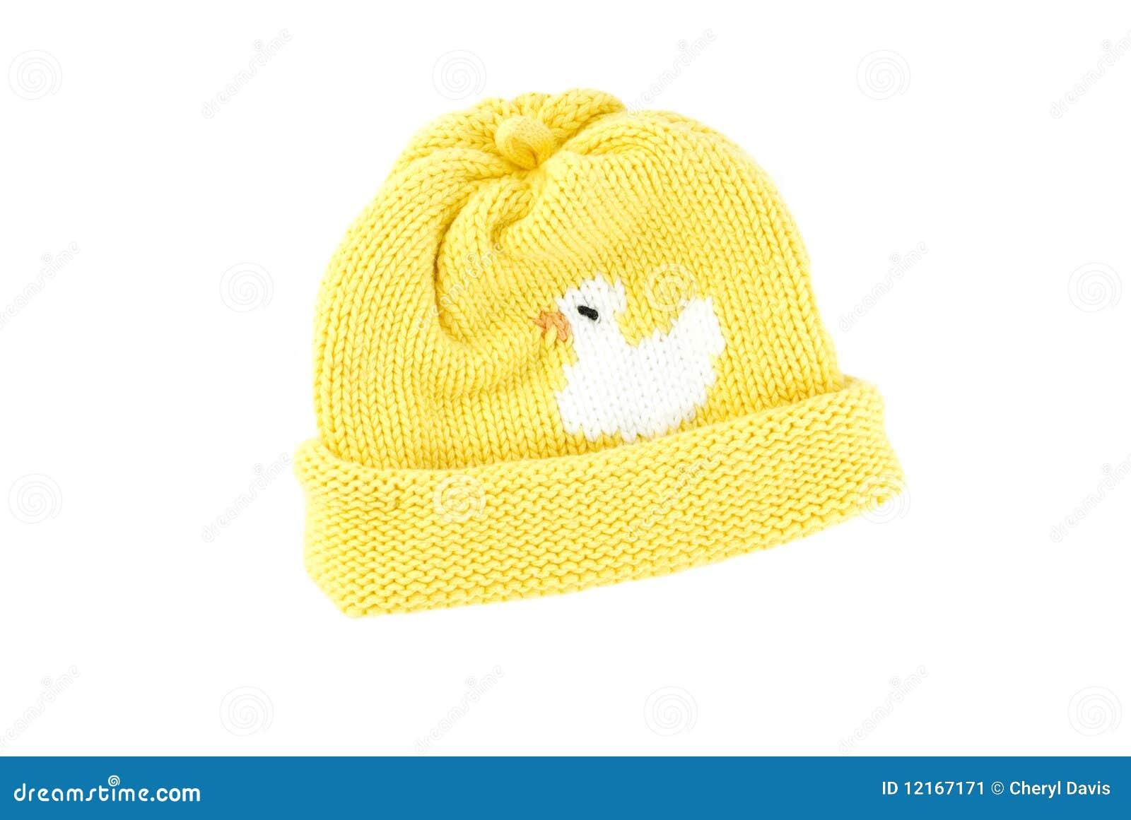 Sombrero amarillo del bebé del Knit