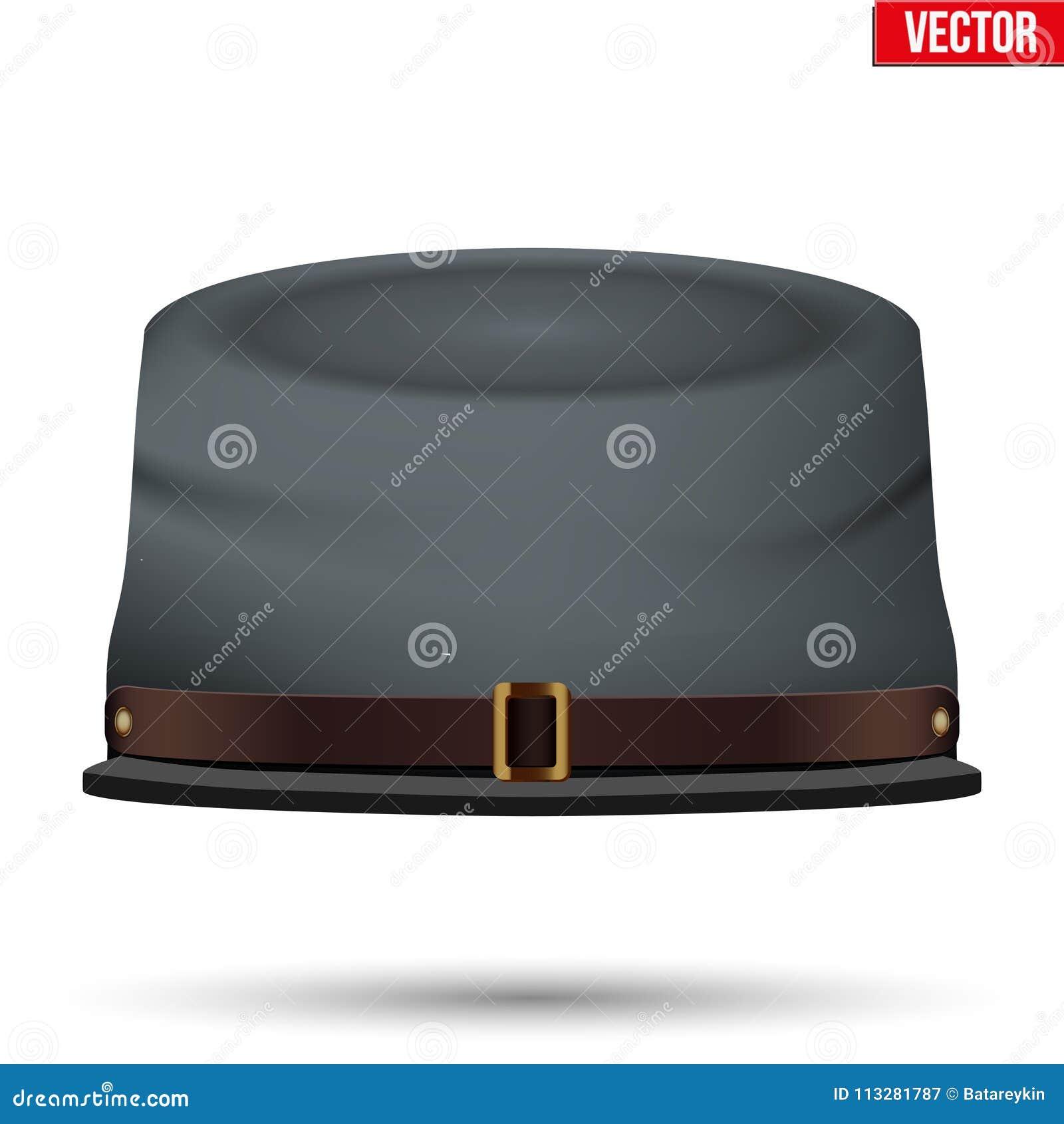 Sombrero americano de la caballería del confederado de la guerra civil