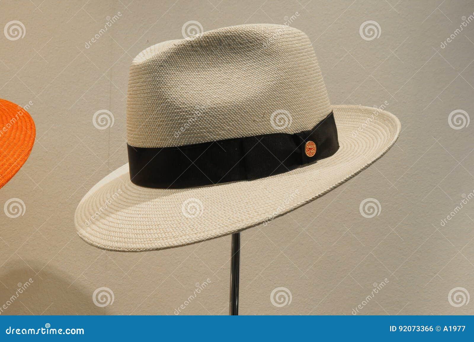 Sombrero De Panamá En La Exhibición Foto editorial - Imagen de ... 99350c025ce