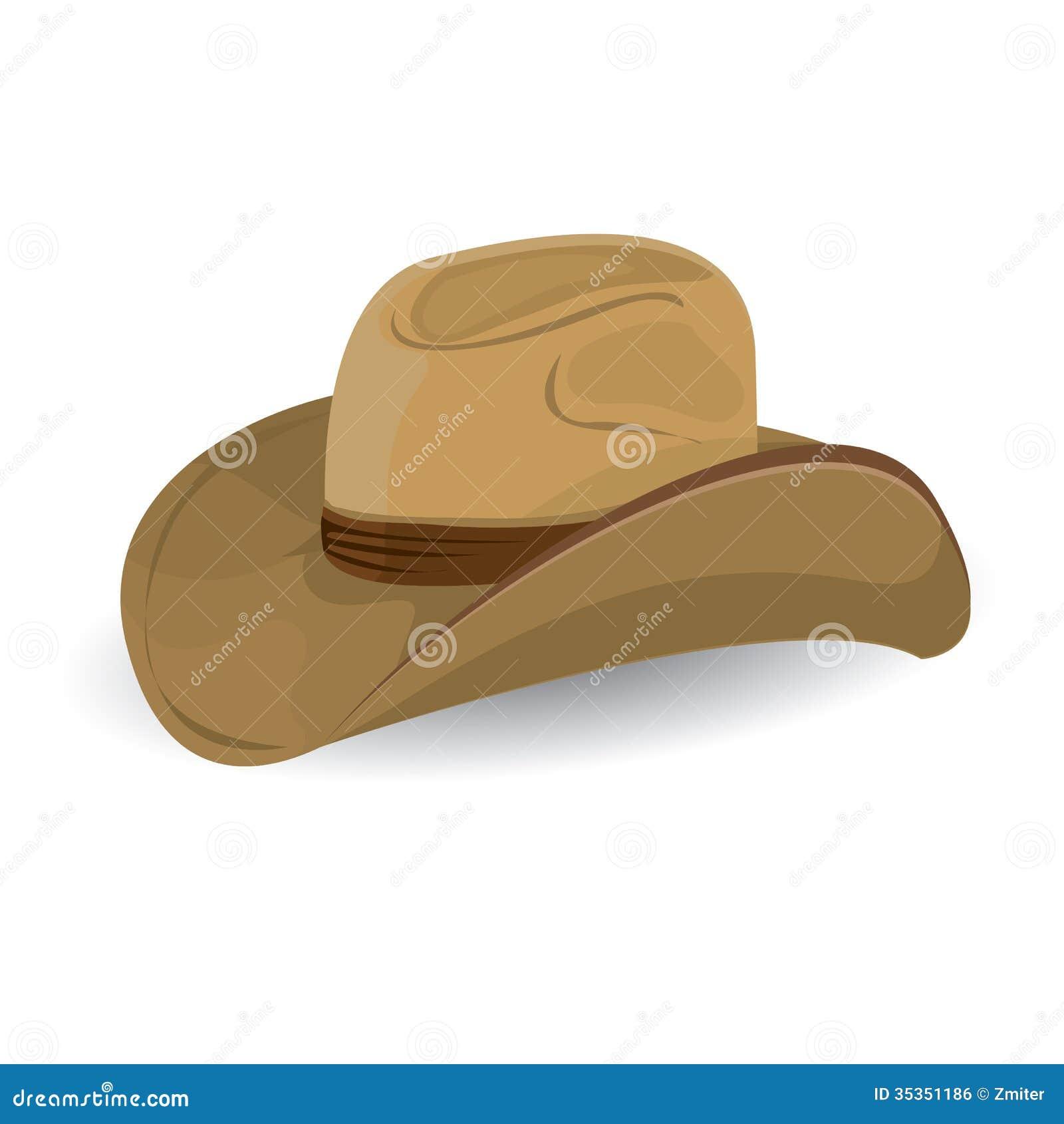 Sombrero De Vaquero. Ejemplo Del Vector. Ilustración del Vector ... 3f3c779383d