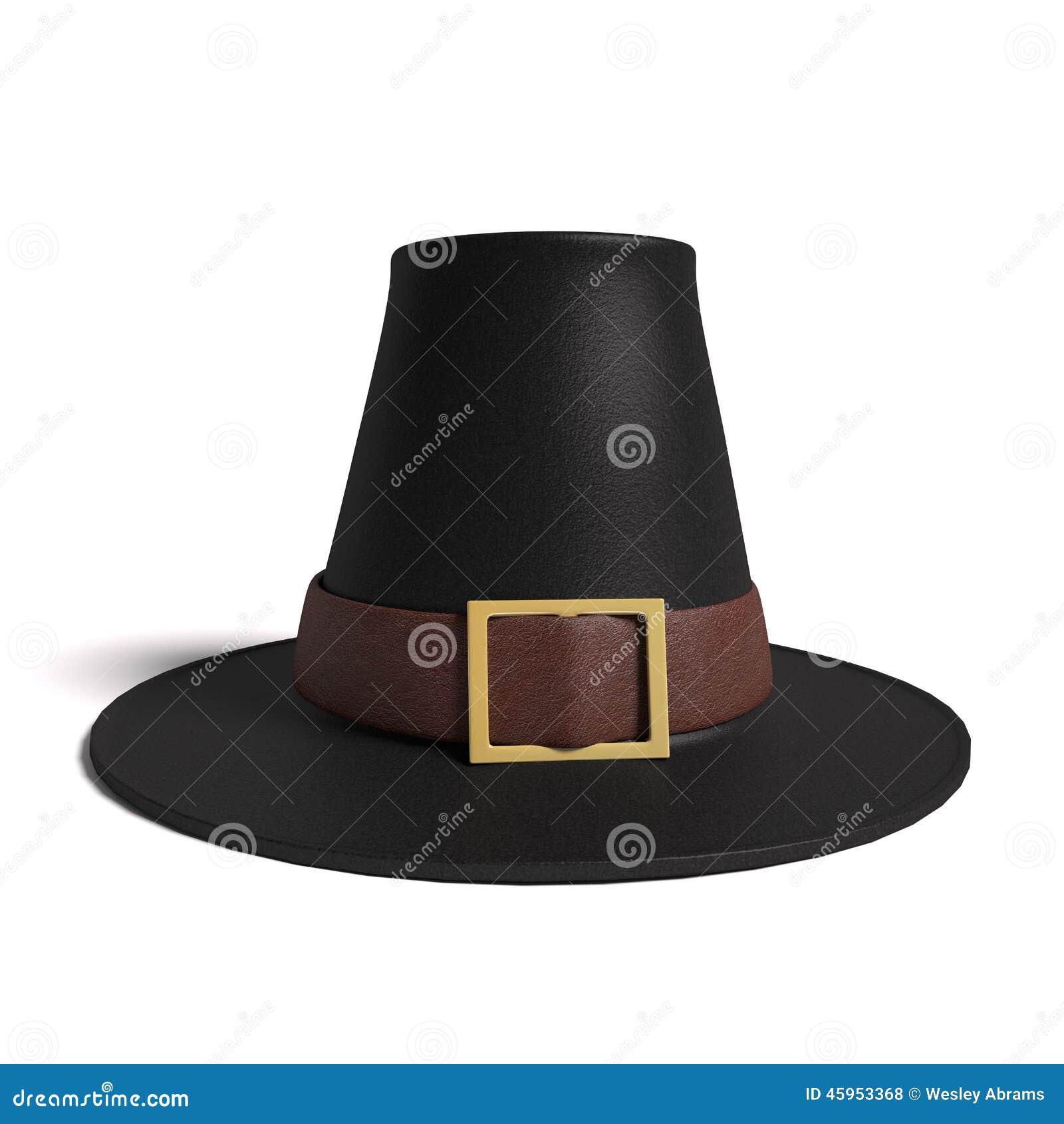 Sombrero del peregrino stock de ilustración. Ilustración de quaker ...