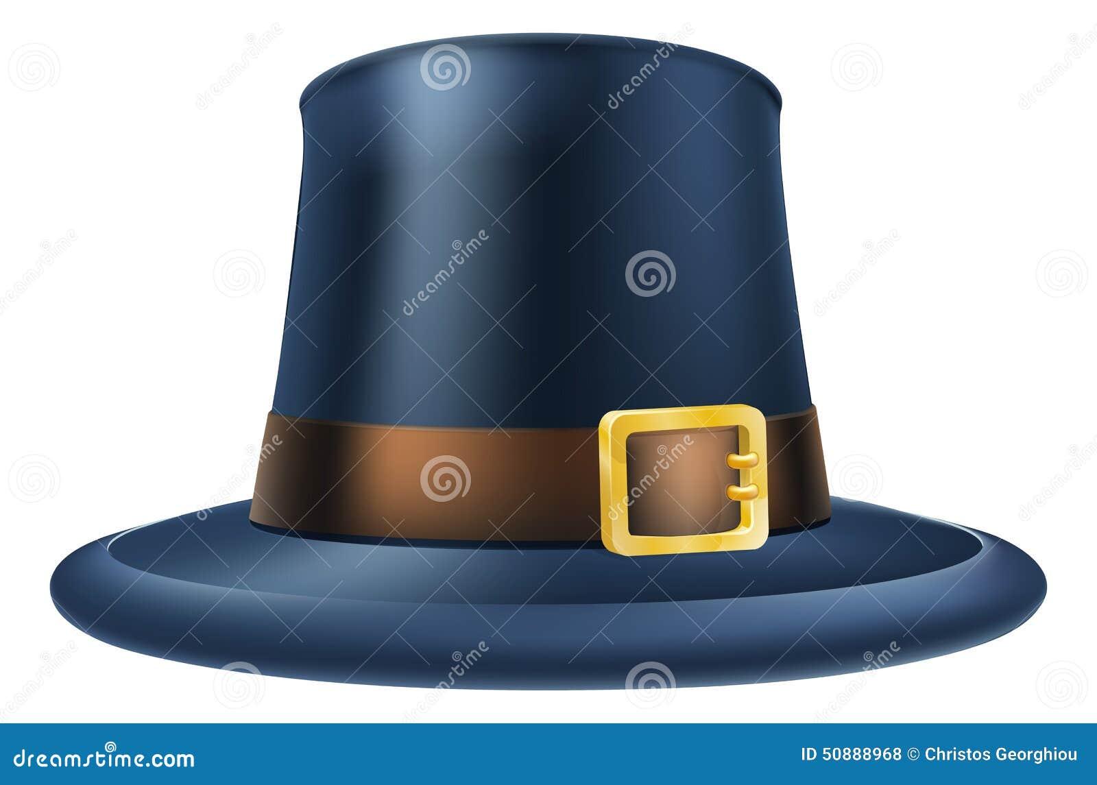 Sombrero Del Peregrino De La Acción De Gracias Ilustración del ...