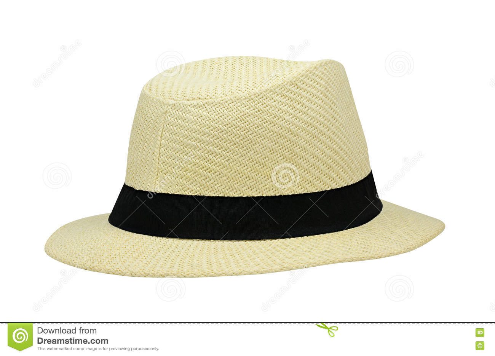 Sombrero del verano aislado en blanco