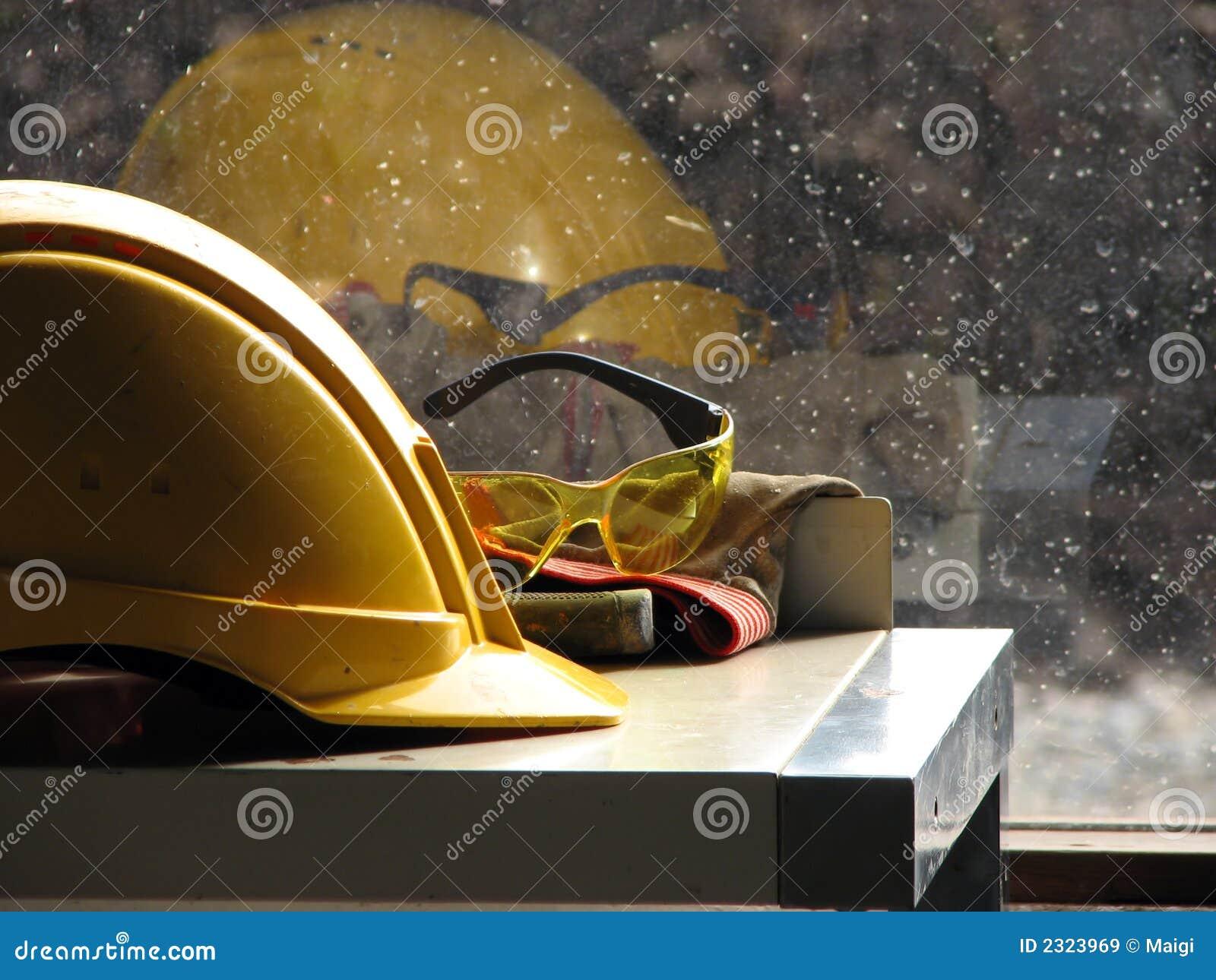 Sombrero duro del constructor