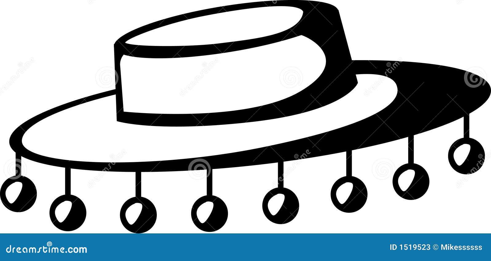 Sombrero Clip Art Black And White Ilustraci amp243n De Un Sombrero