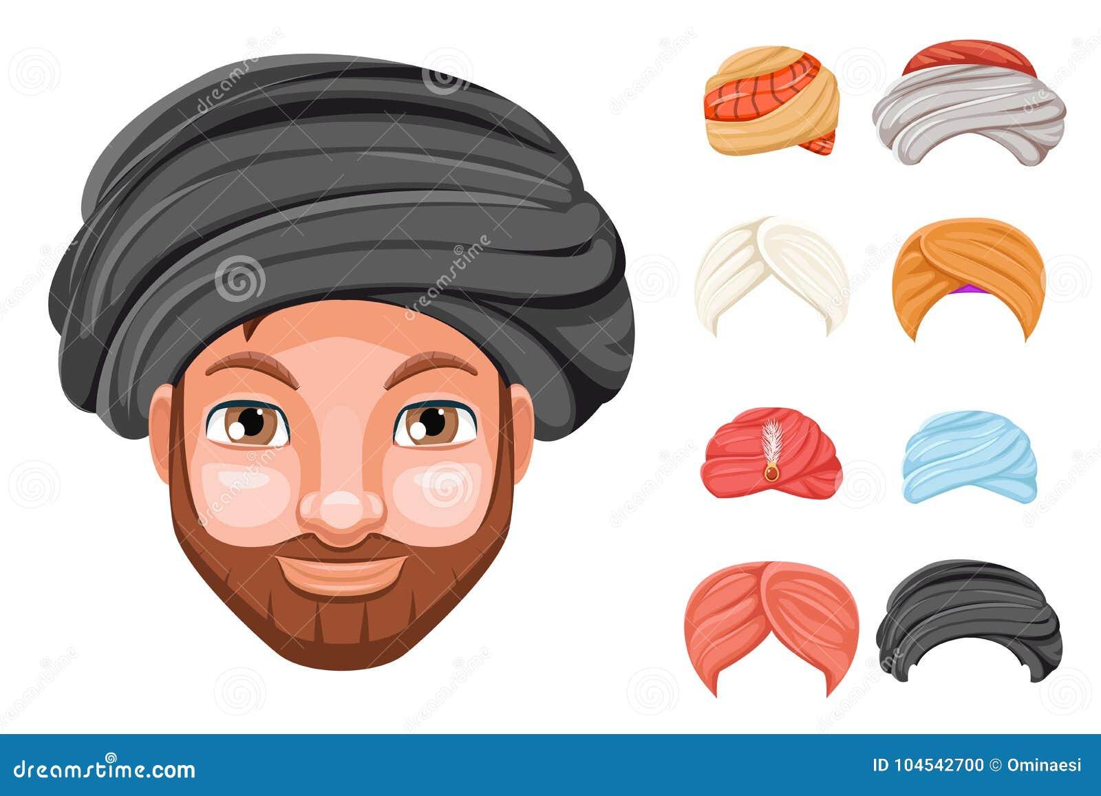 Sombrero Hermoso Lindo Beduino De La Cabeza Del Hombre Del Sultán ...
