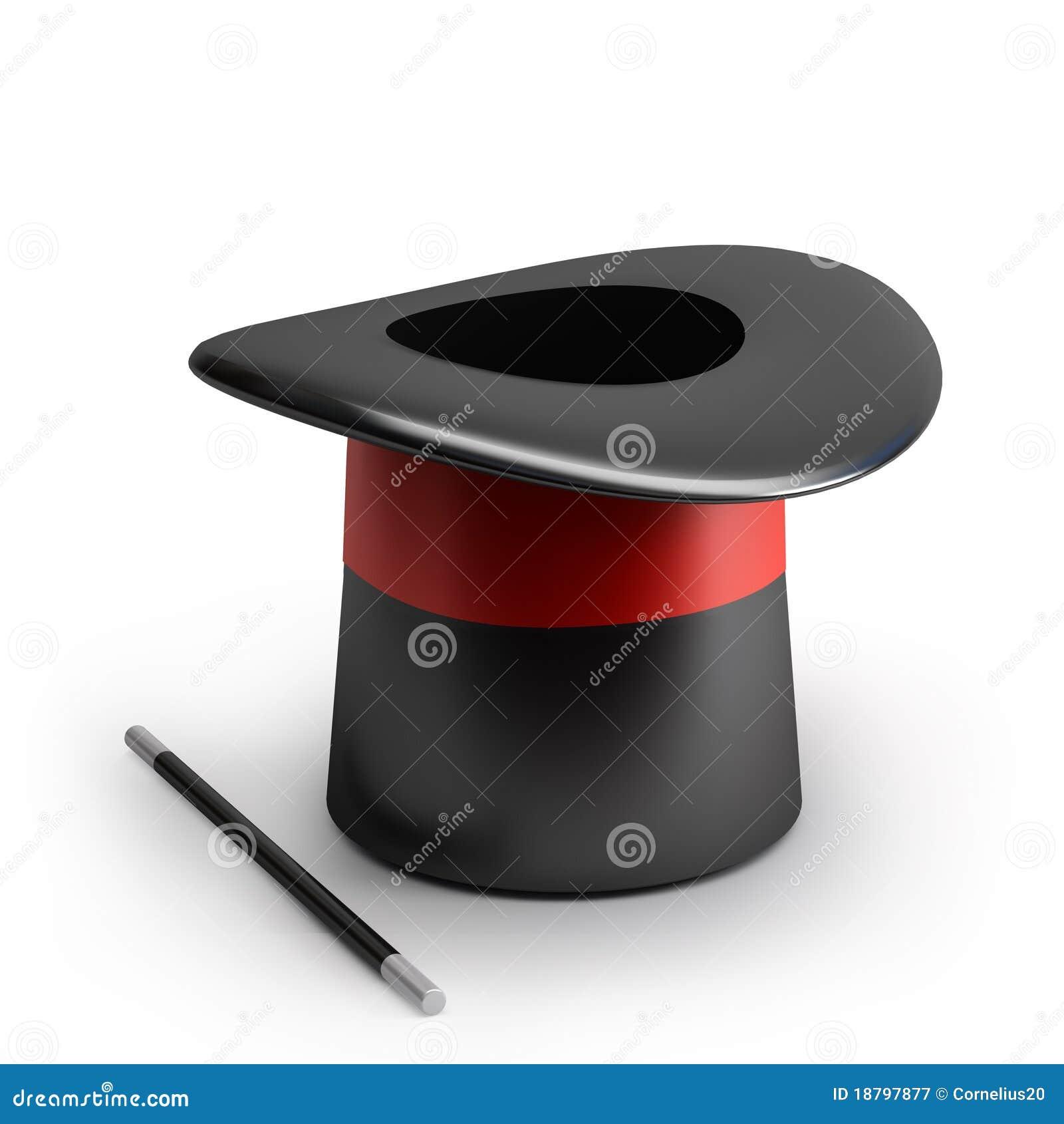 5b7b824c46b Sombrero mágico stock de ilustración. Ilustración de rojo - 18797877