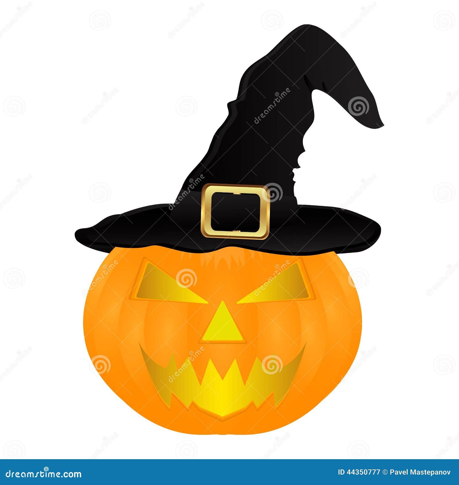 Sombrero malvado de la bruja de la calabaza para halloween - Disenos de calabazas de halloween ...