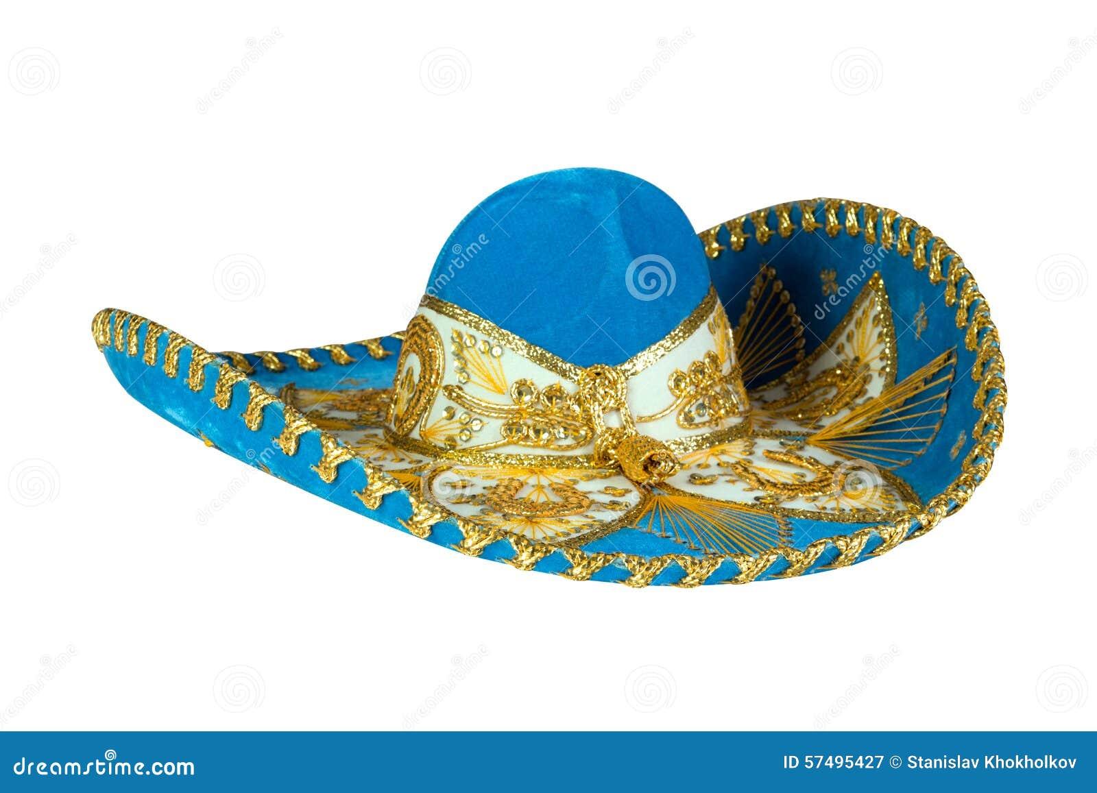 b8236b6af7d97 Sombrero Mexicano Azul Aislado En Blanco Imagen de archivo - Imagen ...