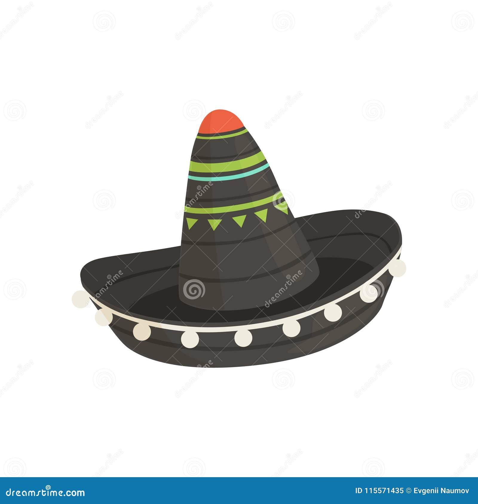 Sombrero Mexicano Negro Del Sombrero c77ce44f197