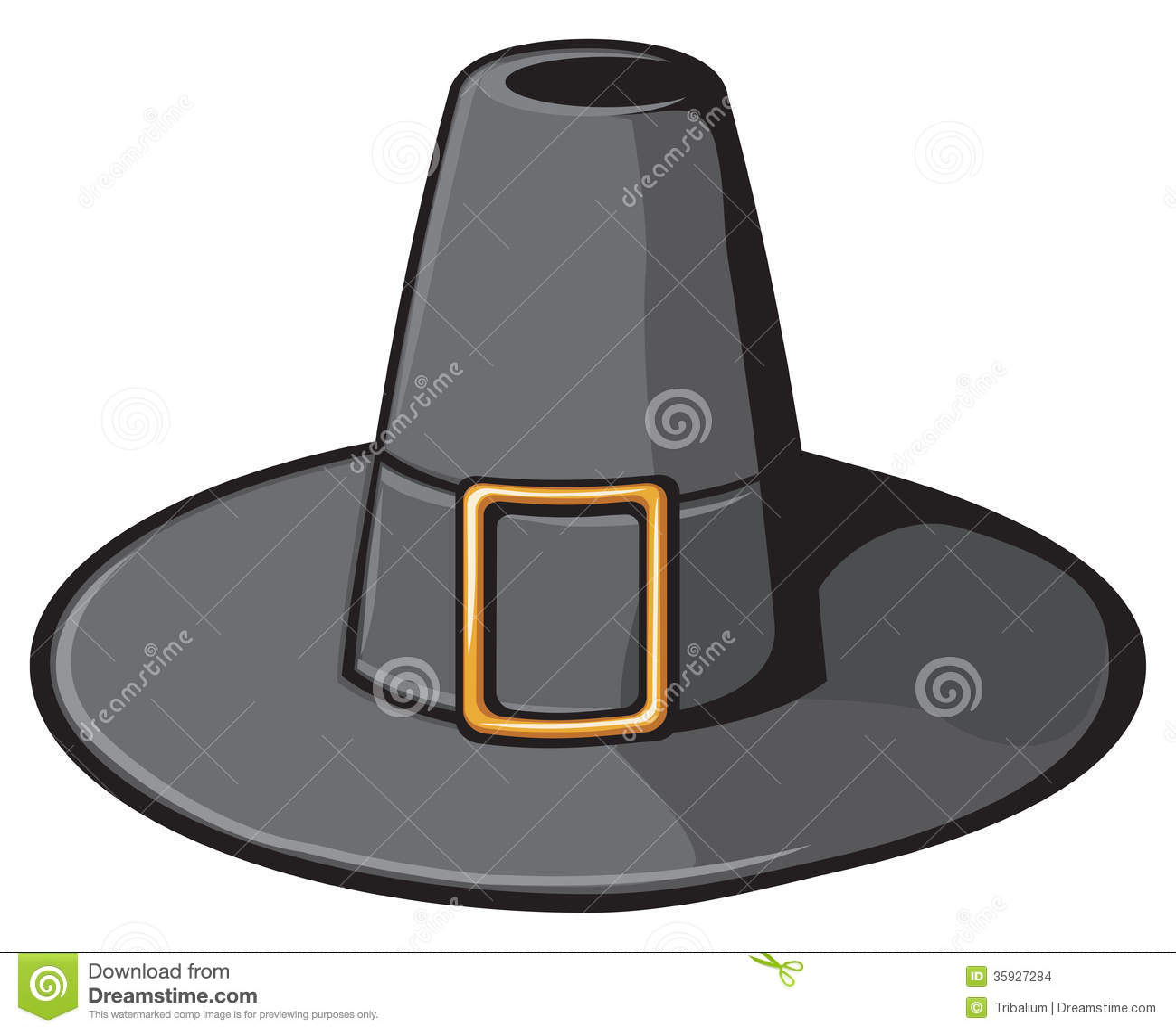Sombrero Negro Del Peregrino Ilustración del Vector - Ilustración de ...