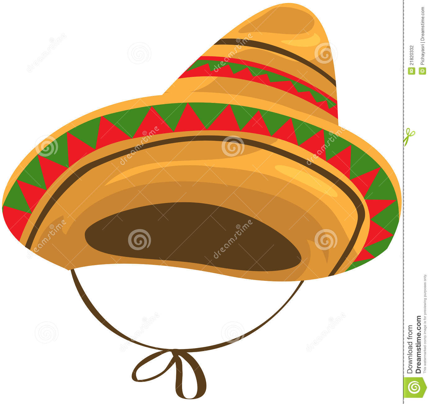 Illustration of isolated a sombrero straw hat on white. Designers Also  Selected These Stock Illustrations 43dd64492f1