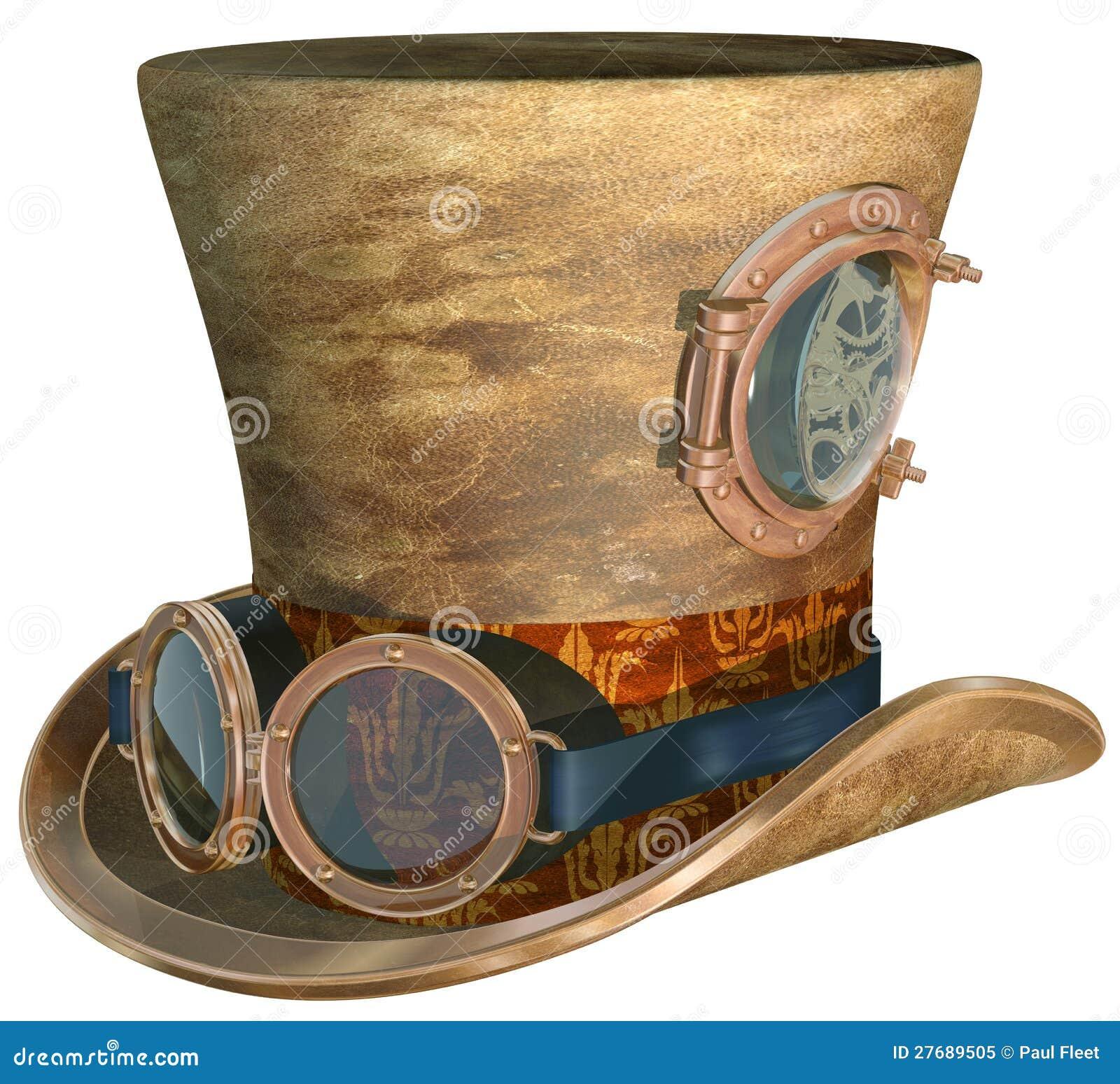 Sombrero y anteojos de Steampunk