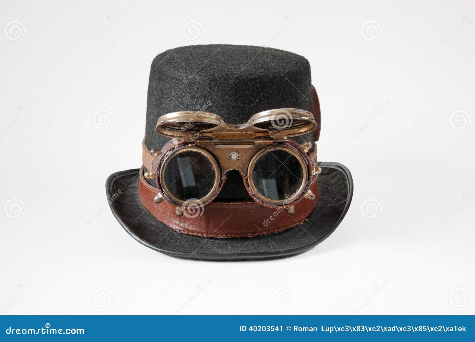 Sombrero Y Gafas De Steampunk Imagen de archivo - Imagen de cuero ... b879df4ec05