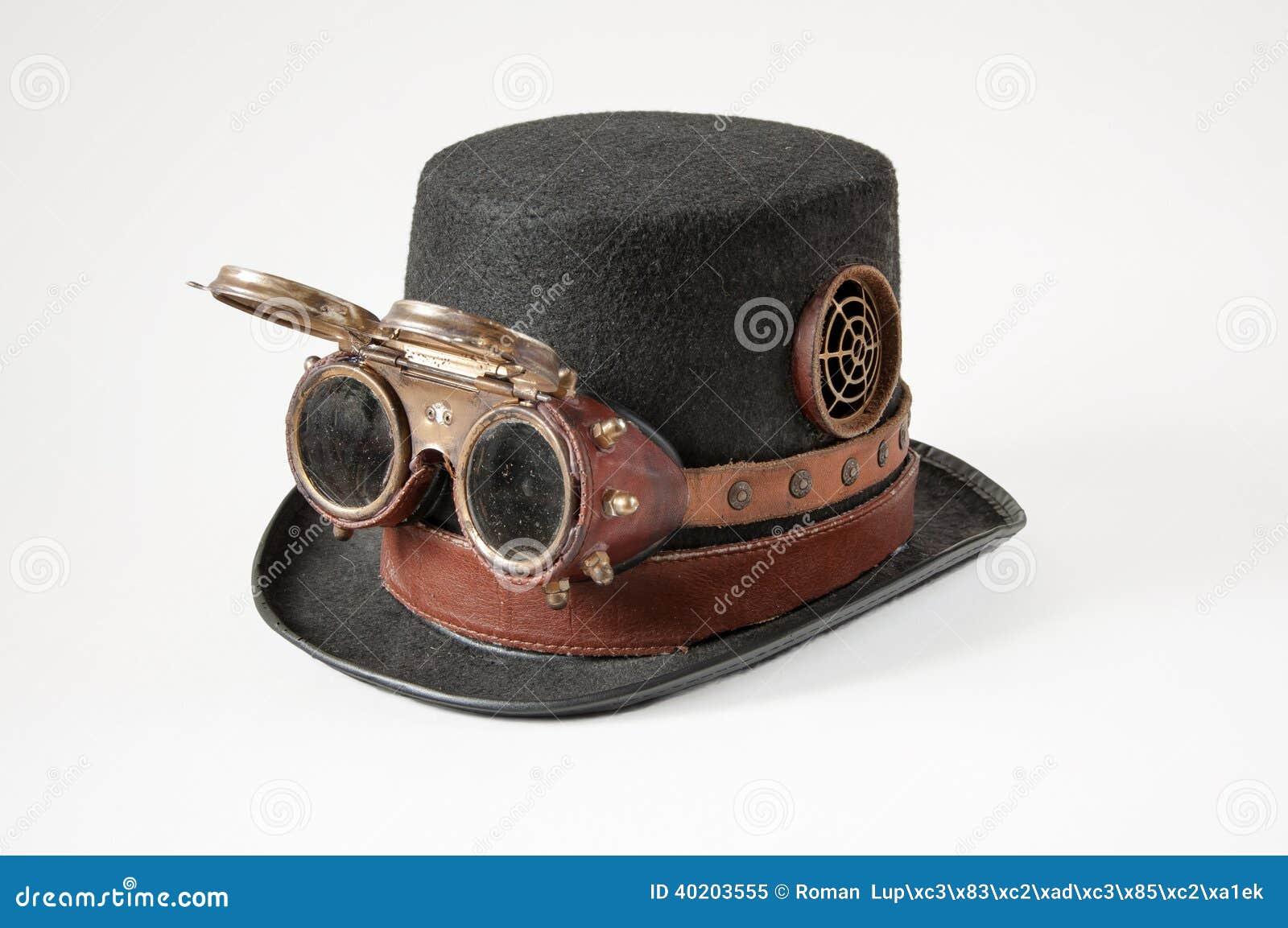 Sombrero Y Gafas De Steampunk Imagen de archivo - Imagen de traje ... f3f4558b810