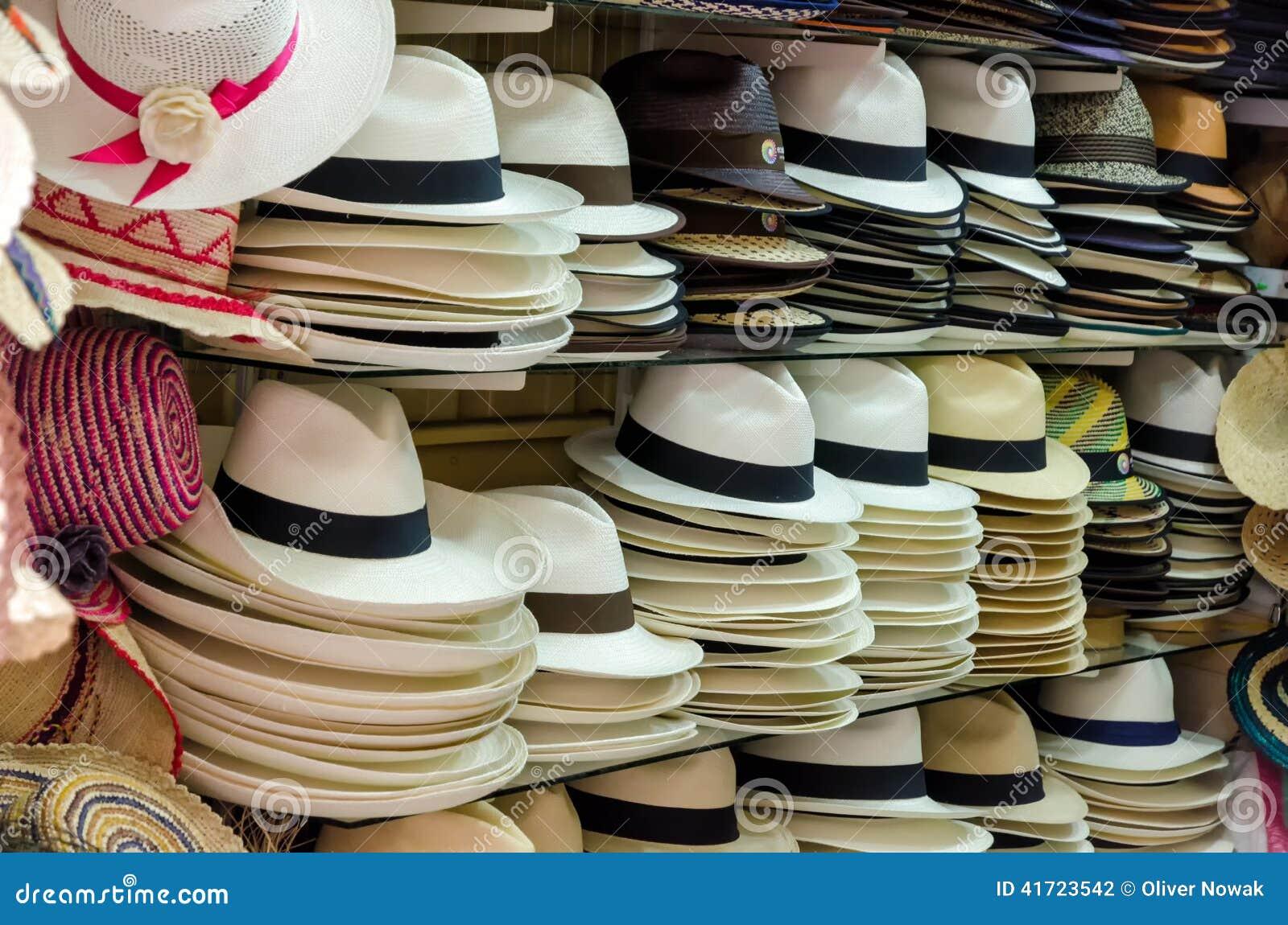 Sombreros de Panamá foto de archivo. Imagen de bastón - 41723542 ca79b84f402