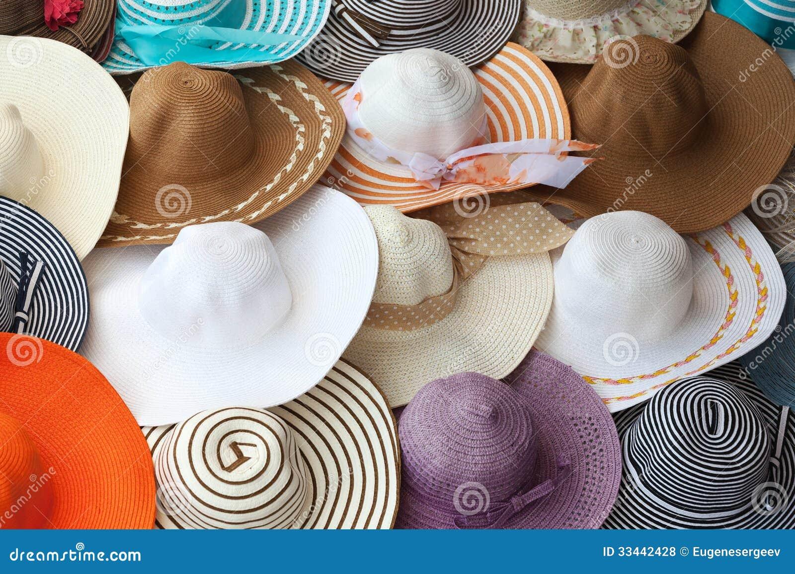 Sombreros femeninos coloridos del verano