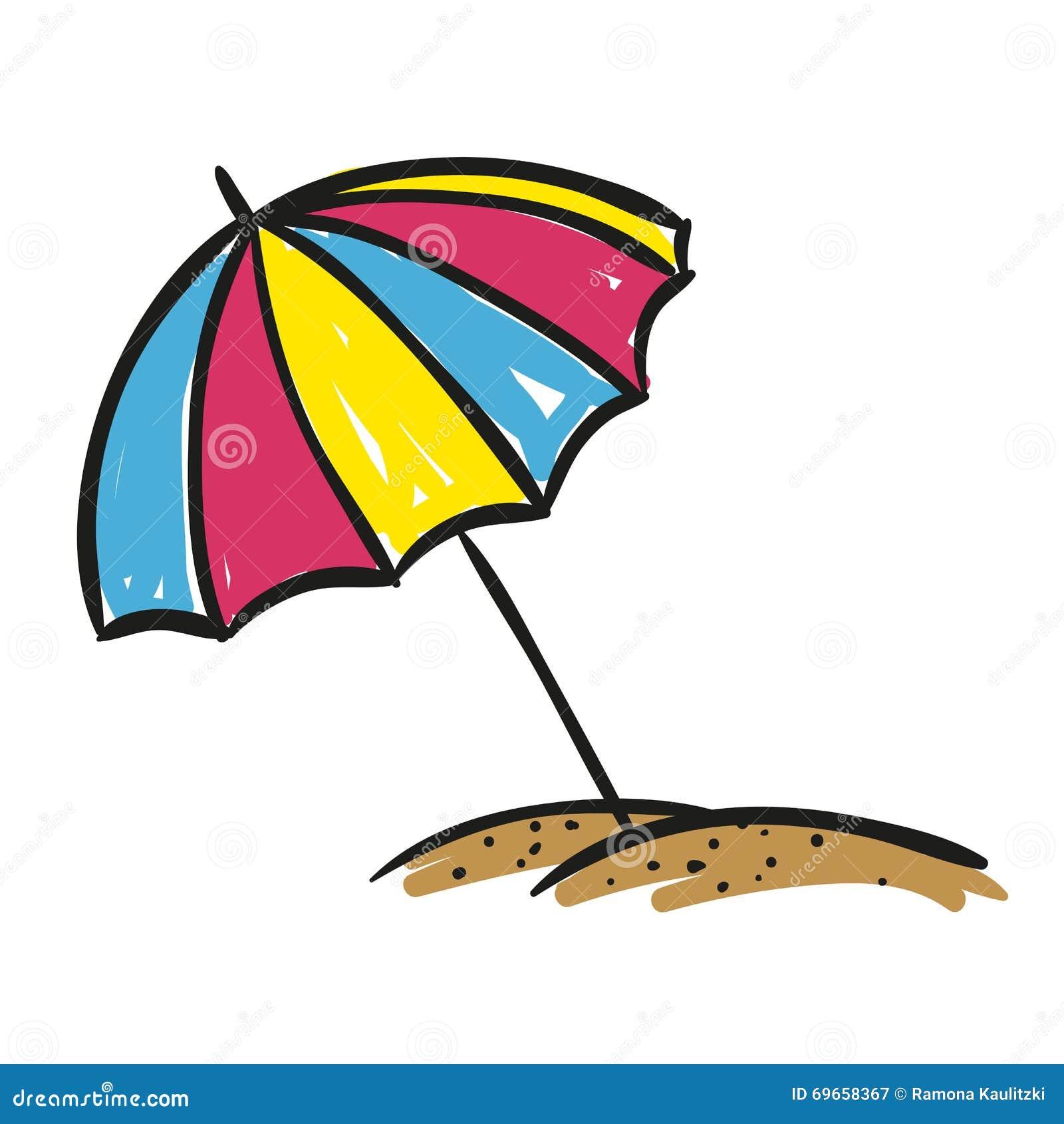 Sombrilla dibujada mano stock de ilustraci n imagen - Sombrilla de mano ...