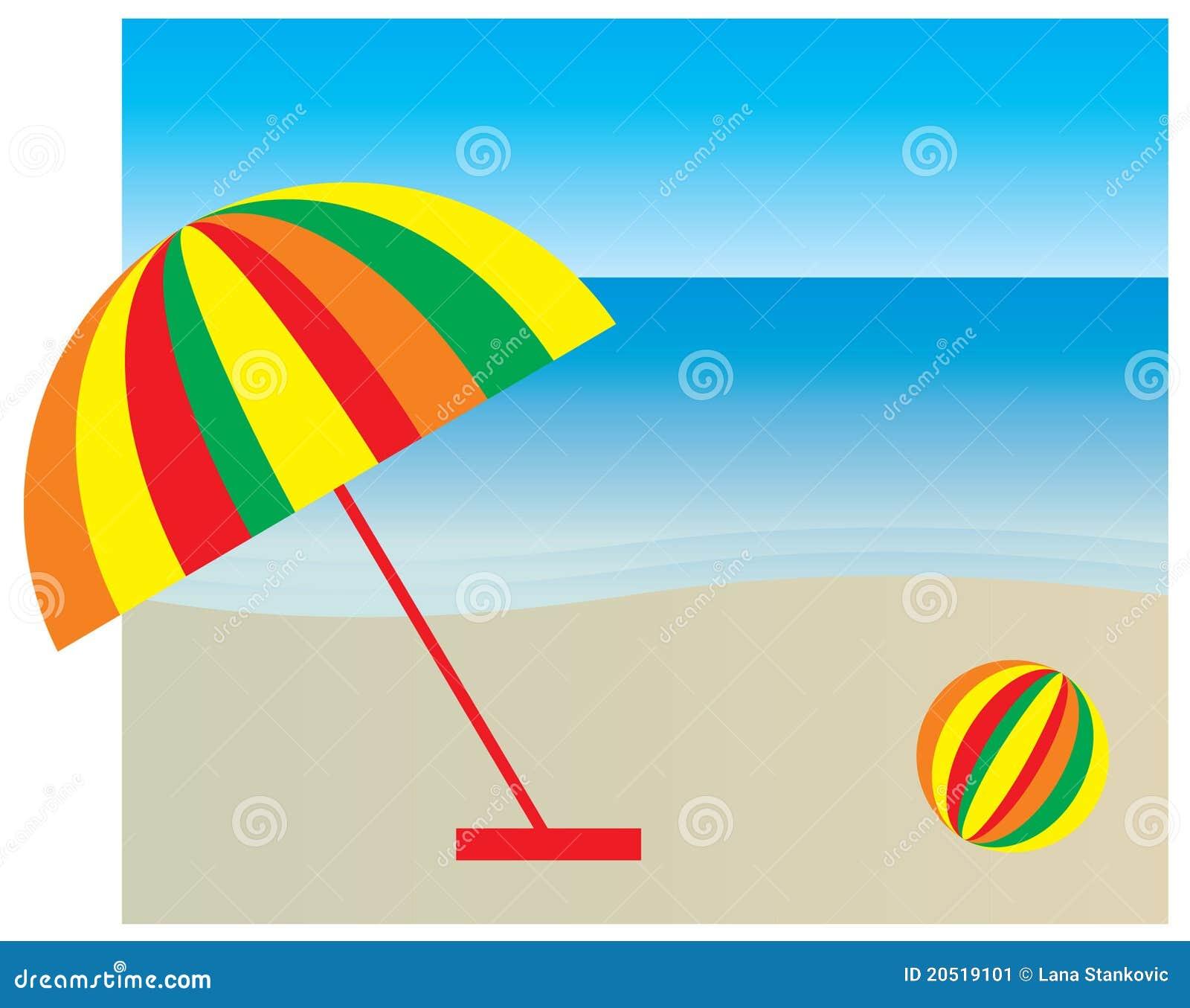 Sombrilla en la playa imagen de archivo imagen 20519101 - Sombrilla playa ...