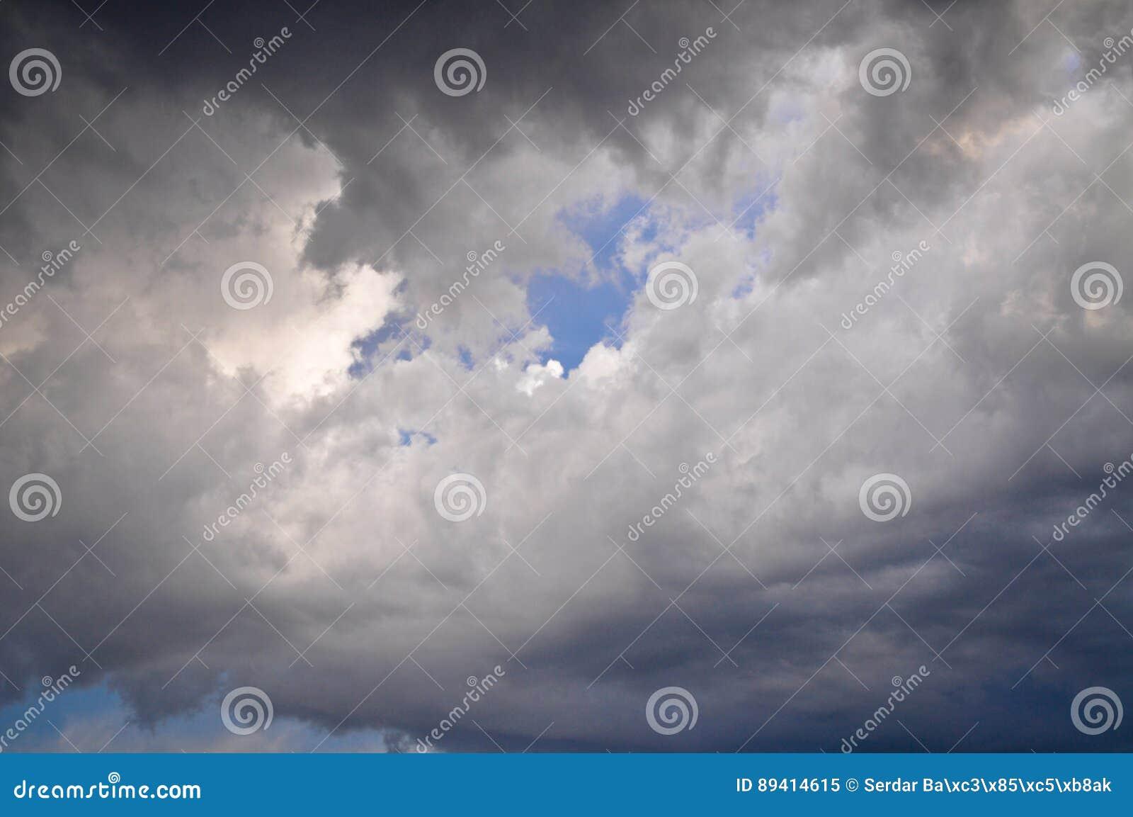 Sombrio nuvens