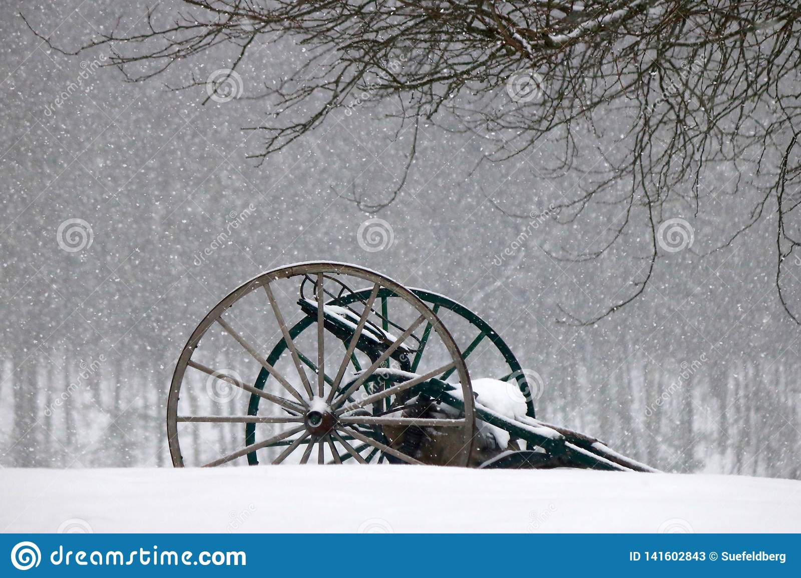 Farm Machinery in the Snow