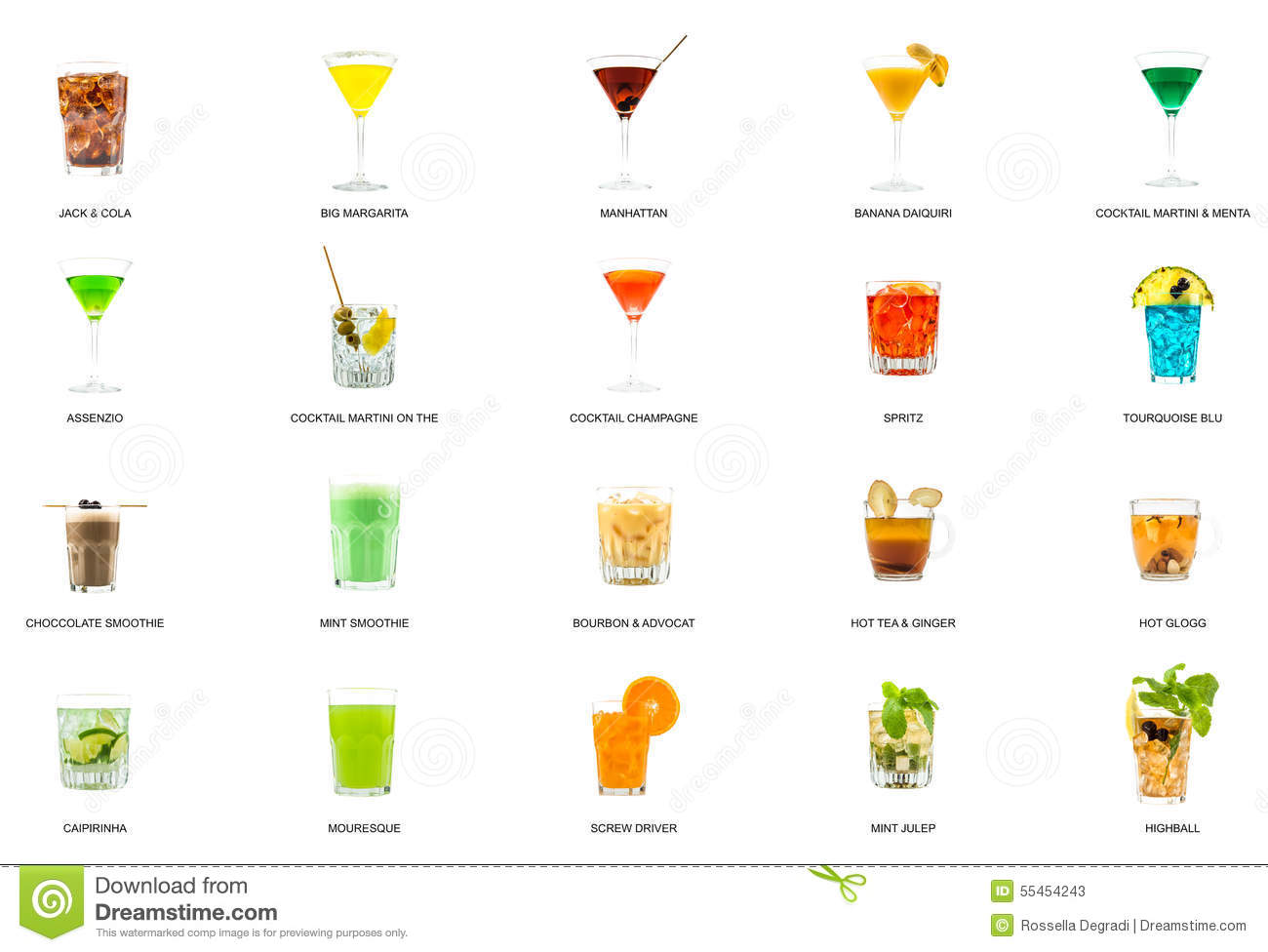Name Of All Alcoholic Drinks