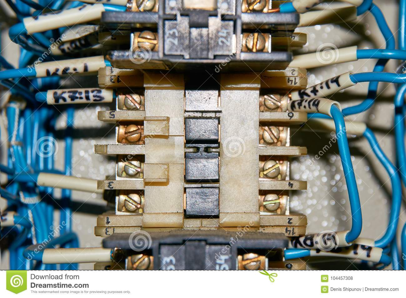 Some Electrical Relay Is Mounted On The Mounting Panel Relays Wiring Socket Connections Inserted In Base Or To Wires Connected With Terminals And Marking