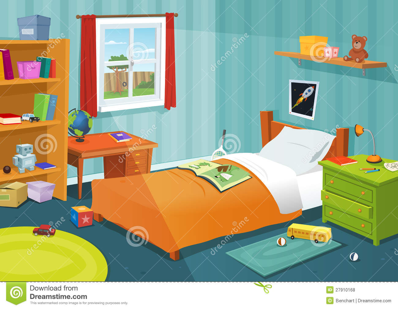 Some kid bedroom stock vector illustration of home play for Chambre de dormir