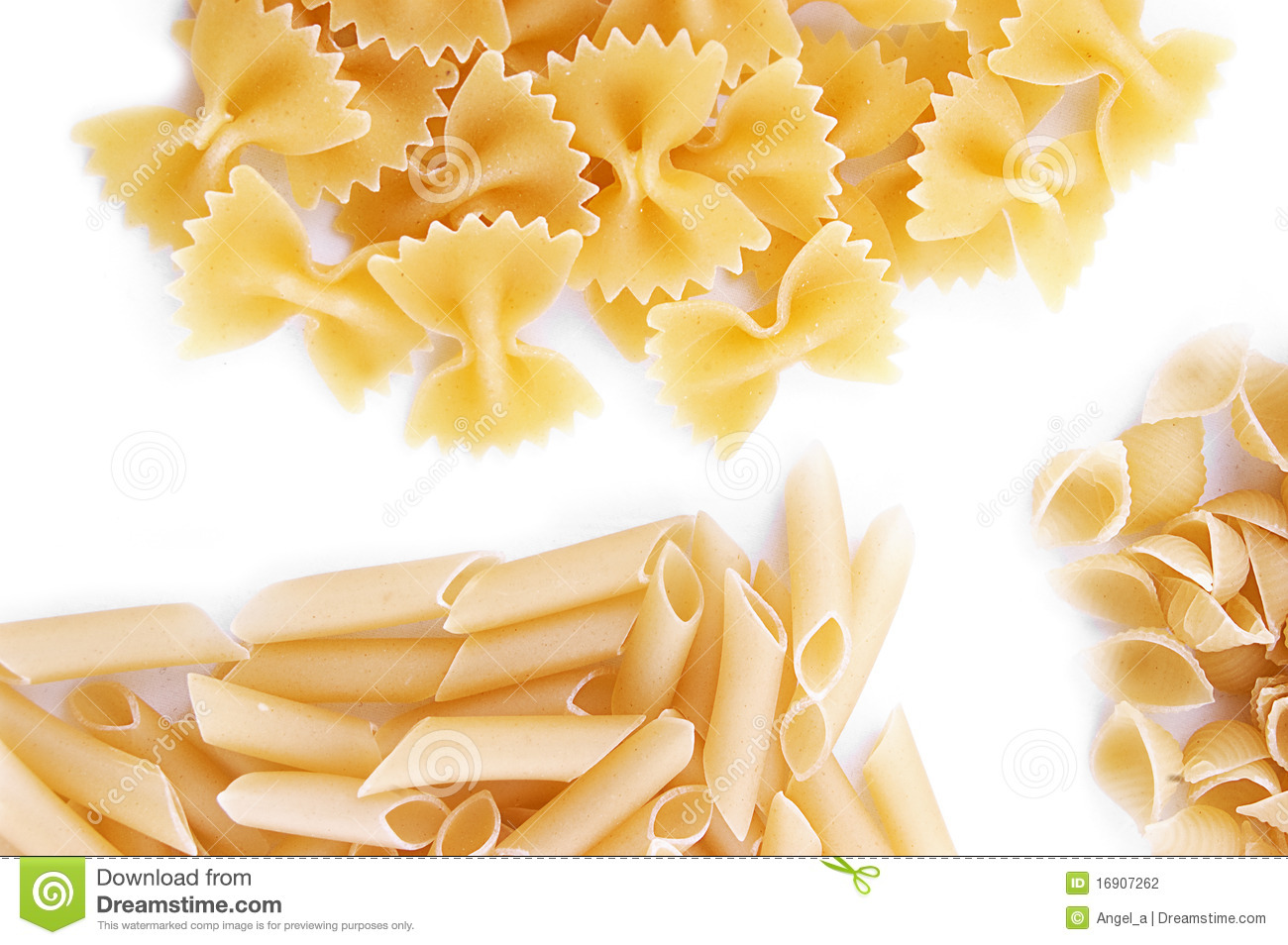 Some Kinds Of Pasta Stock Photography - Image: 16907262