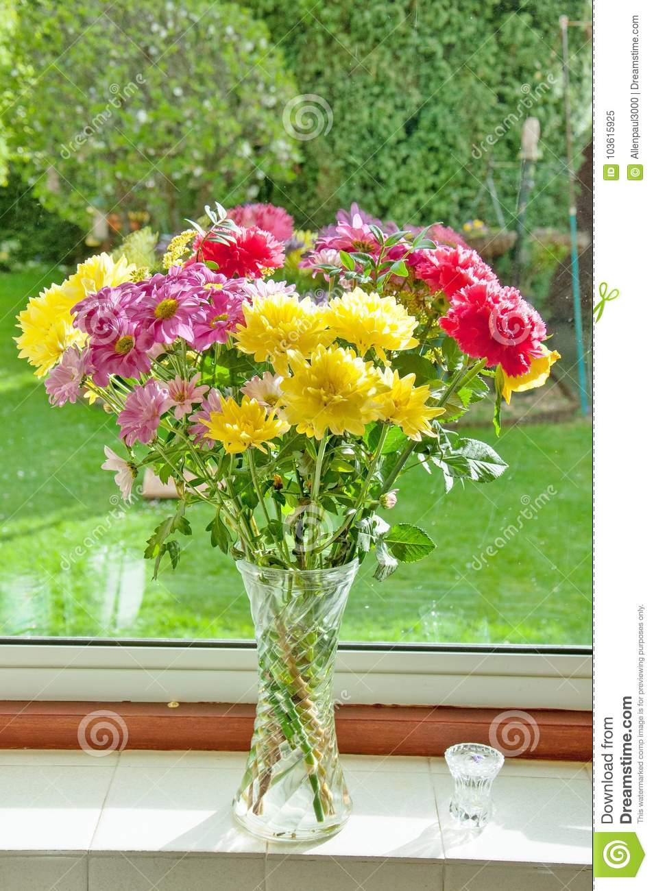 Beautiful Flowers In A Vase Stock Image Image Of Vase Colorful