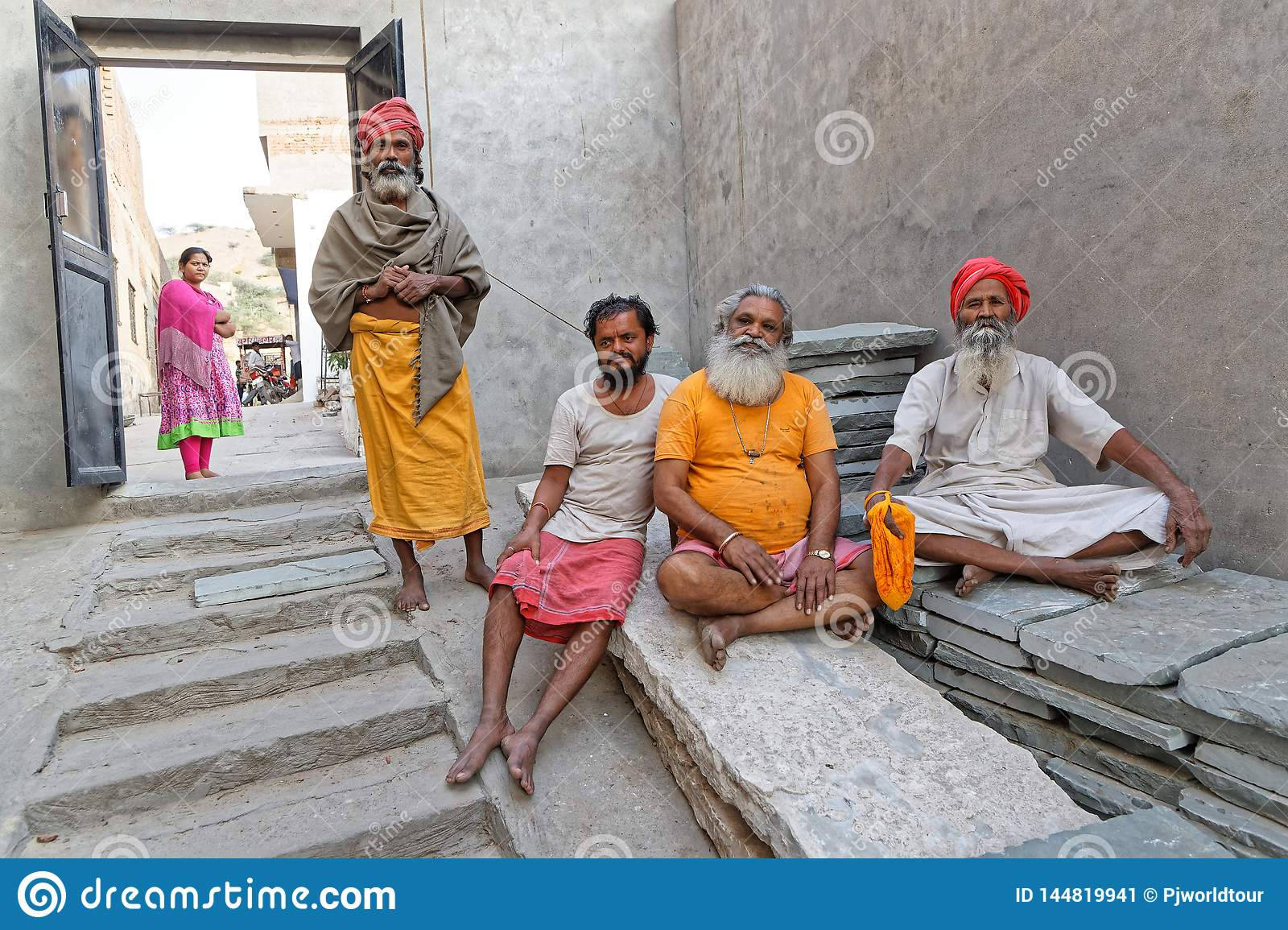 Arresting Sadhus Portrait Photography Religious Photography: Some Sadhus In An Ashram Editorial Photo. Image Of Holy