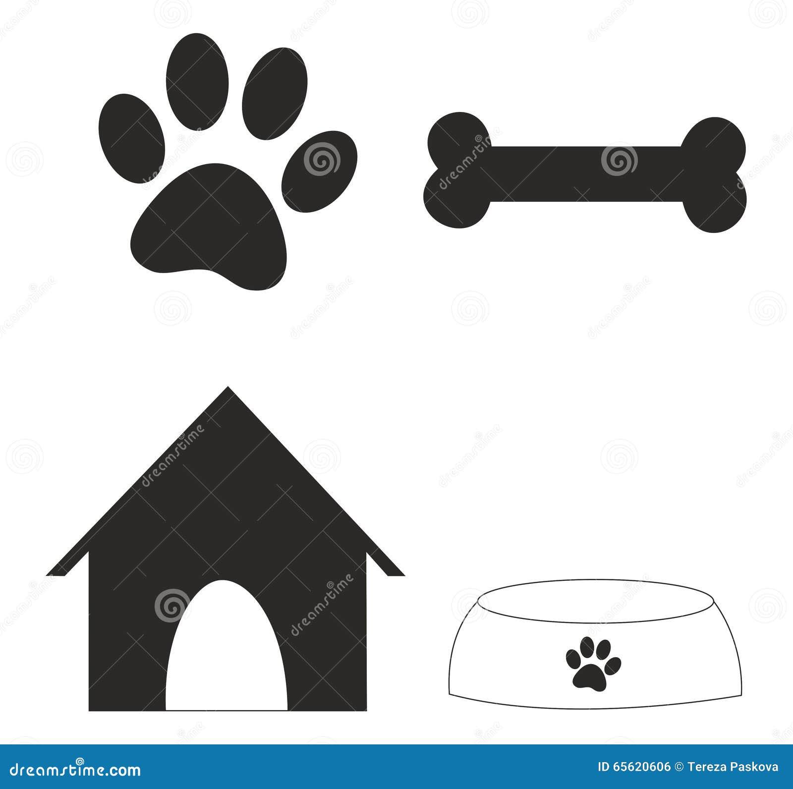 Some symbols of dog stock vector illustration of imprint 65620606 some symbols of dog biocorpaavc Gallery
