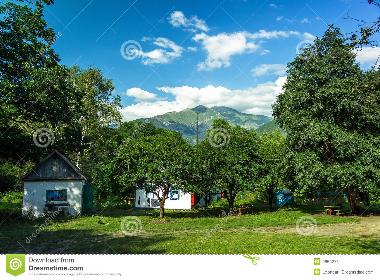 Some traditional houses in the mountains summer stock image image 28532711 - Summer houses mountains ...