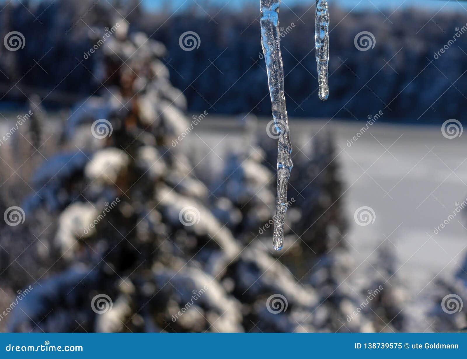 Somente gelo no Mountians no inverno