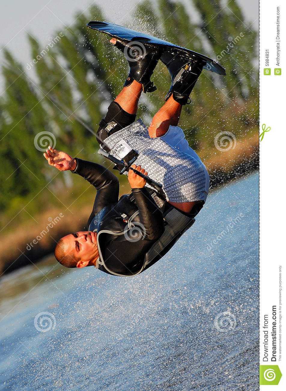 Somersault on a Wakeboard
